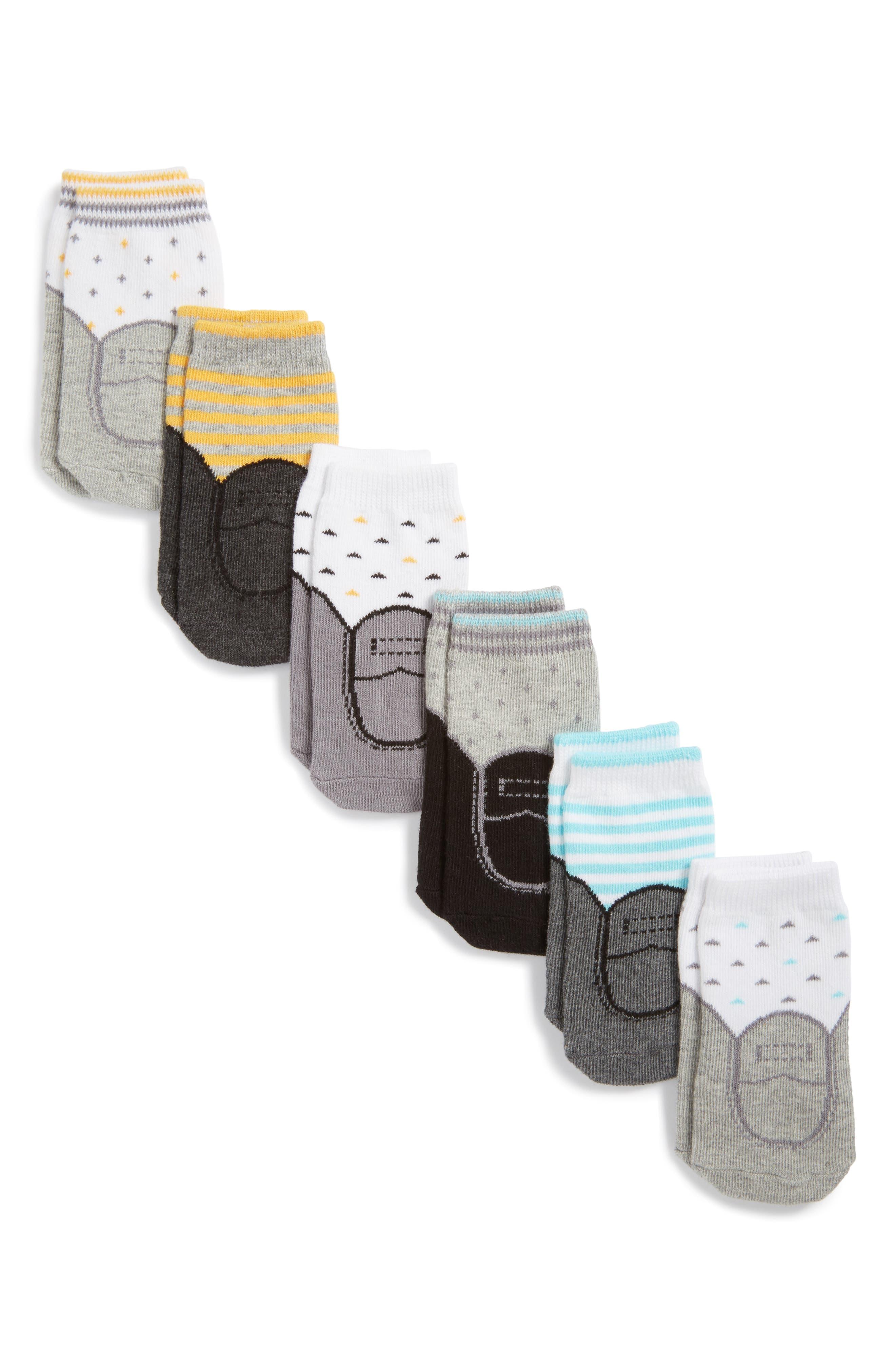 Chase 6-Pack Socks,                             Alternate thumbnail 2, color,                             100