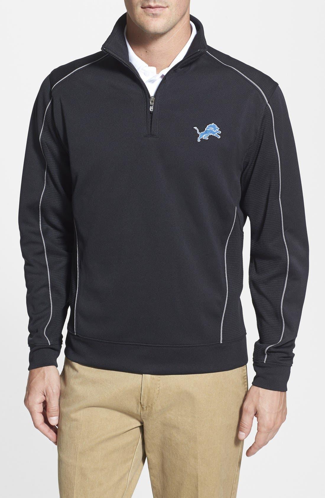 Detroit Lions - Edge DryTec Moisture Wicking Half Zip Pullover,                             Main thumbnail 1, color,                             001