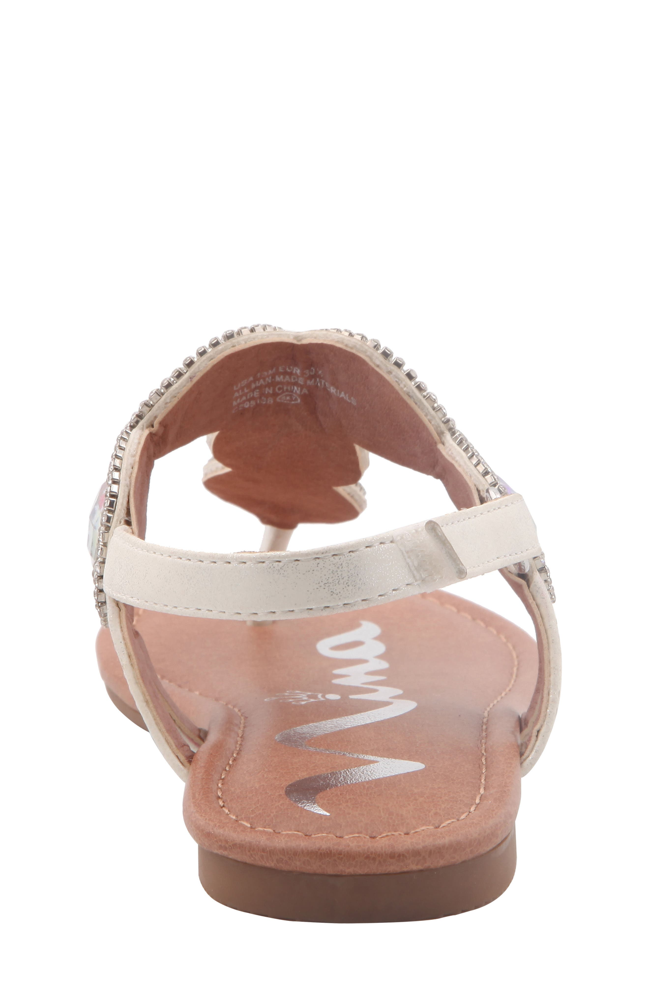 Elicia Embellished T-Strap Sandal,                             Alternate thumbnail 7, color,                             SILVER METALLIC
