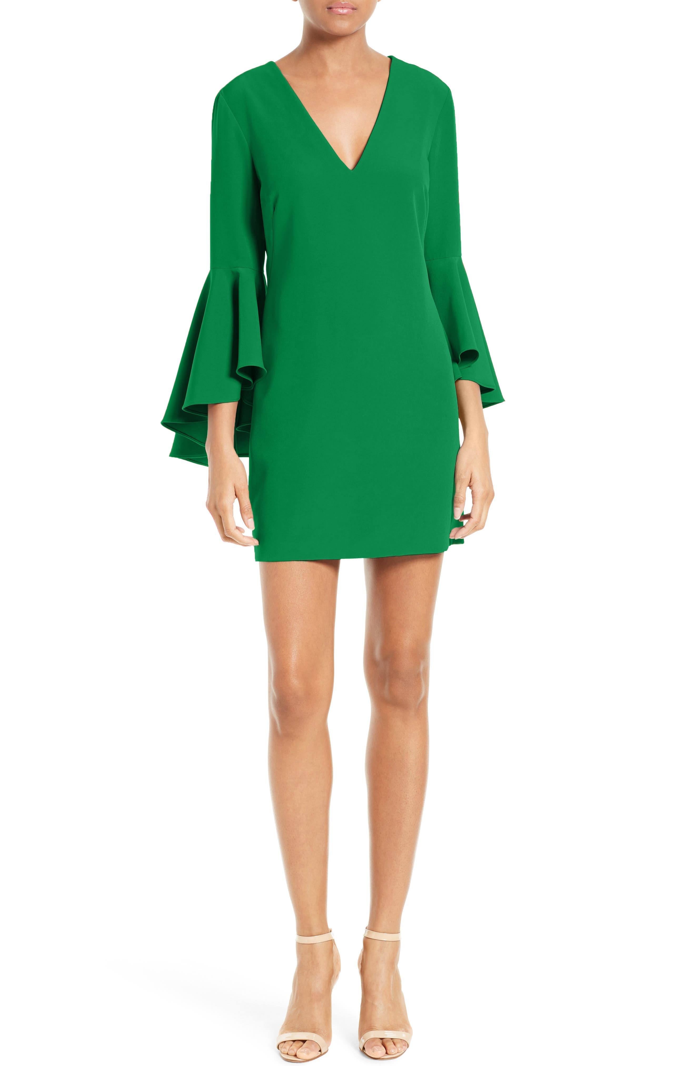 Nicole Bell Sleeve Dress,                             Main thumbnail 6, color,
