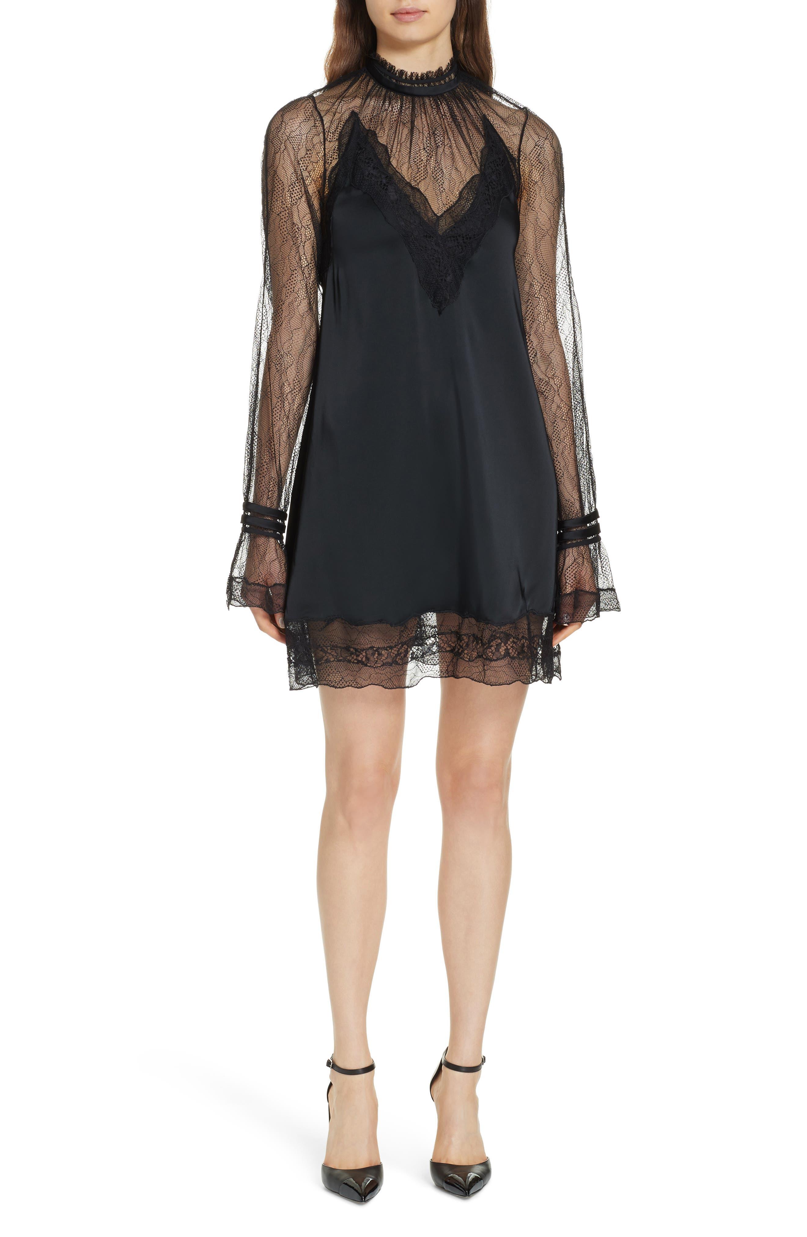 Jonathan Simkhai Lingerie Sateen Minidress, Black