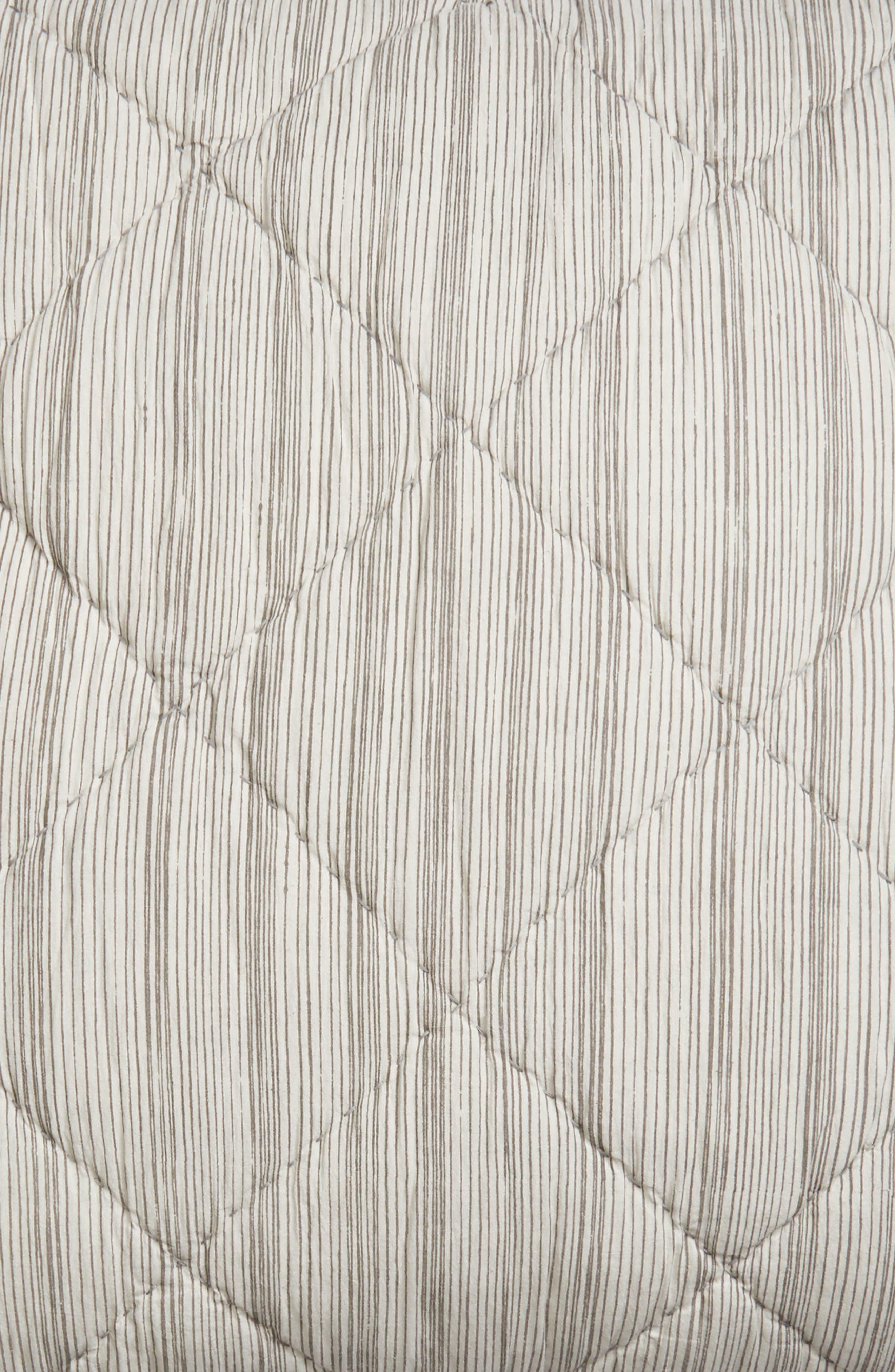 Diamond Stripe Euro Sham,                             Alternate thumbnail 3, color,