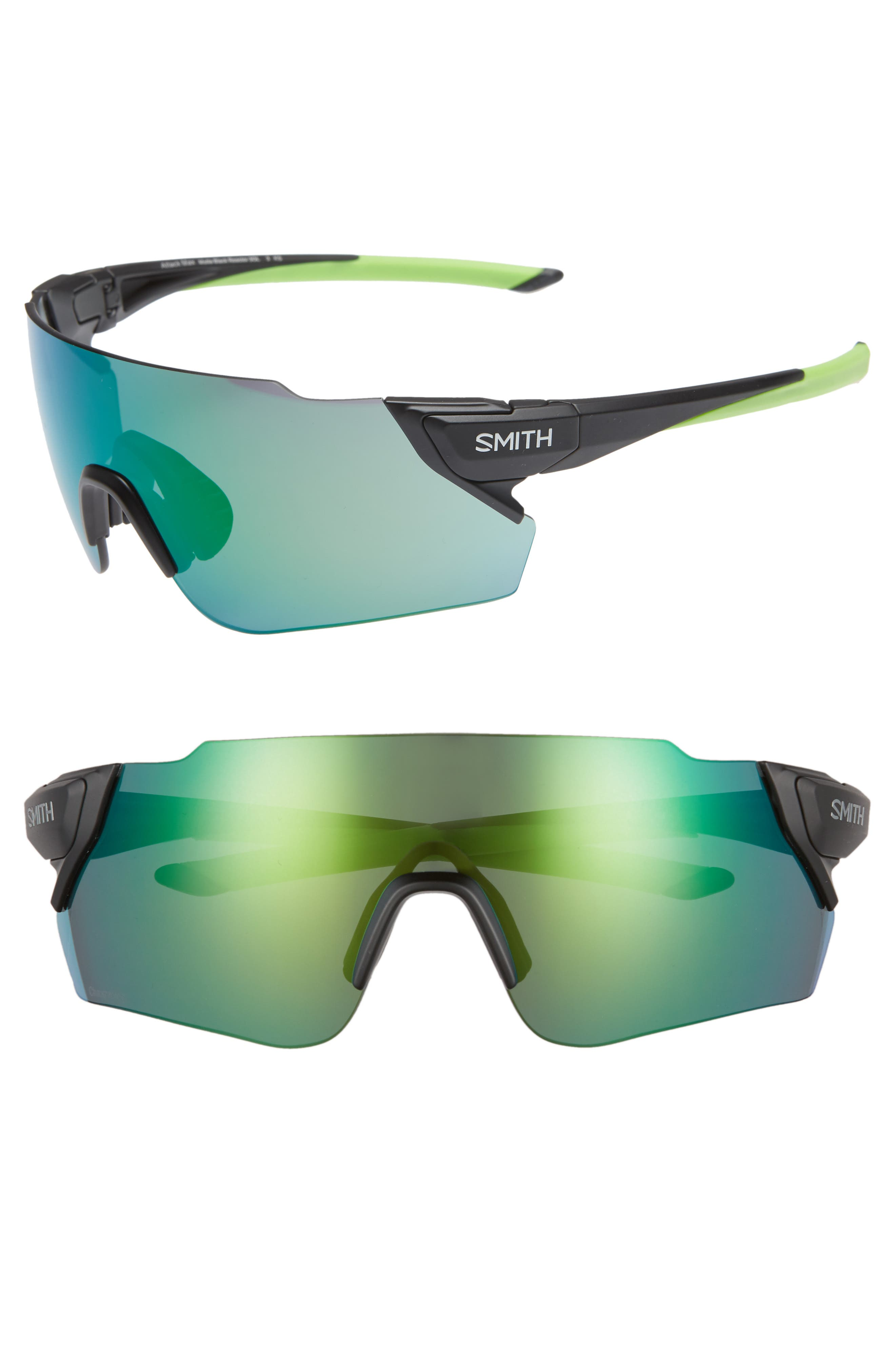 Attack Max 130mm ChromaPop<sup>™</sup> Shield Sunglasses,                             Main thumbnail 1, color,                             MATTE BLACK REACTOR