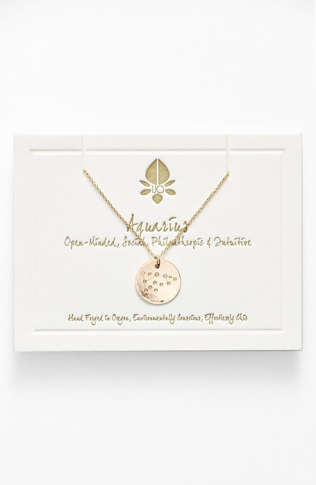 Ija 'Small Zodiac' 14k-Gold Fill Necklace,                             Main thumbnail 11, color,