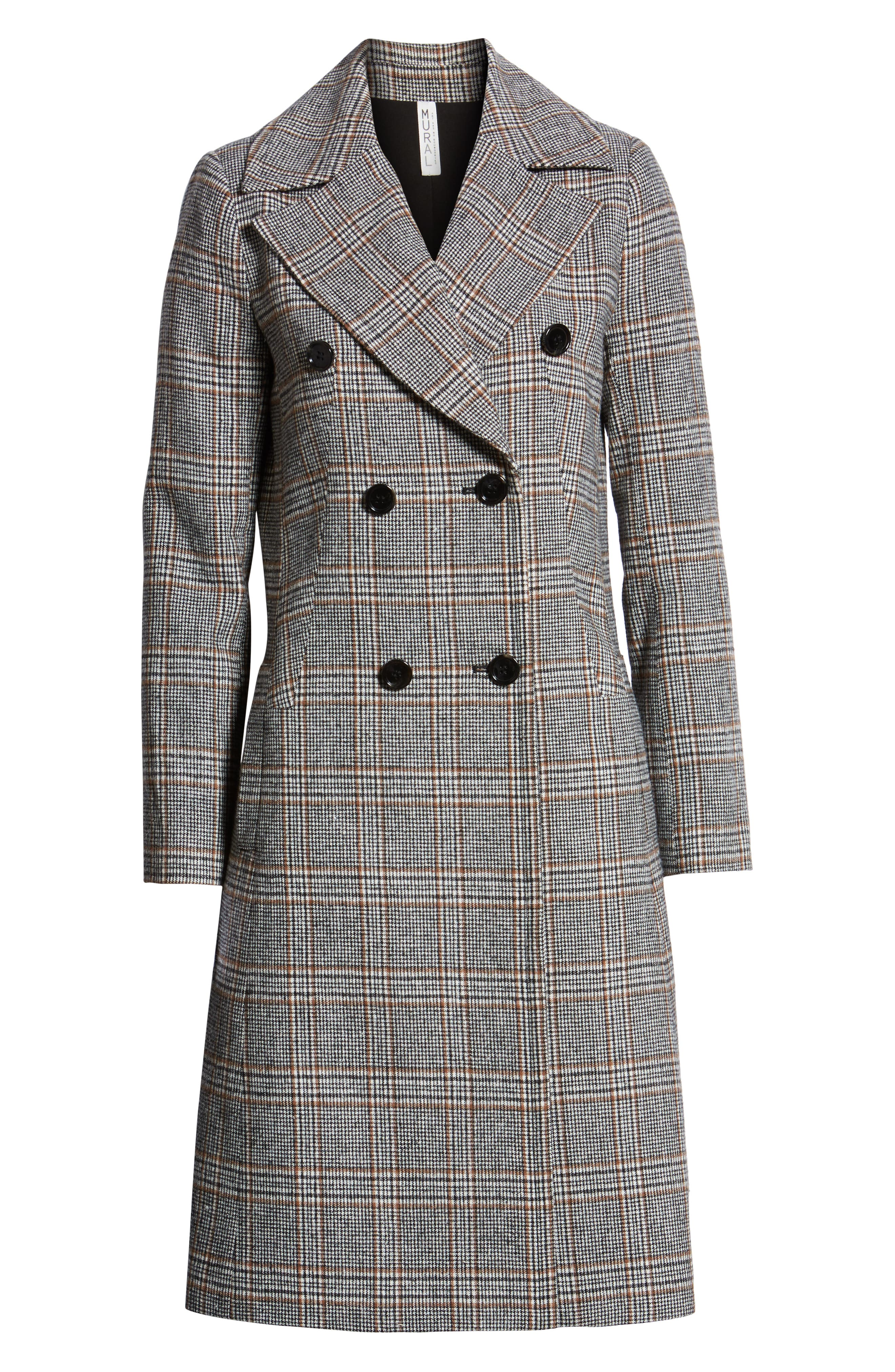 MURAL,                             Blazer Midi Coat,                             Alternate thumbnail 5, color,                             001