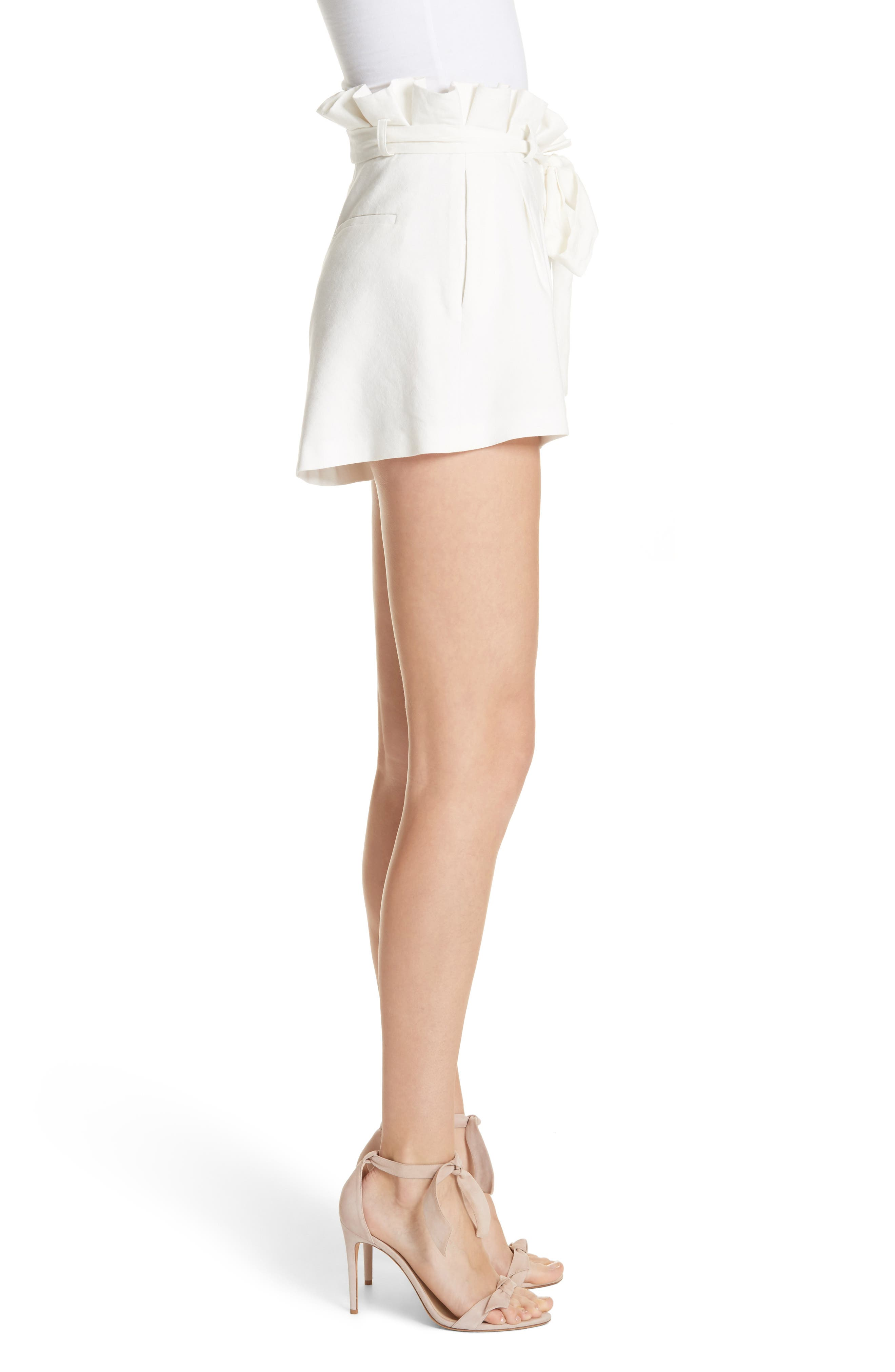 Laurine Paperbag Shorts,                             Alternate thumbnail 3, color,                             127