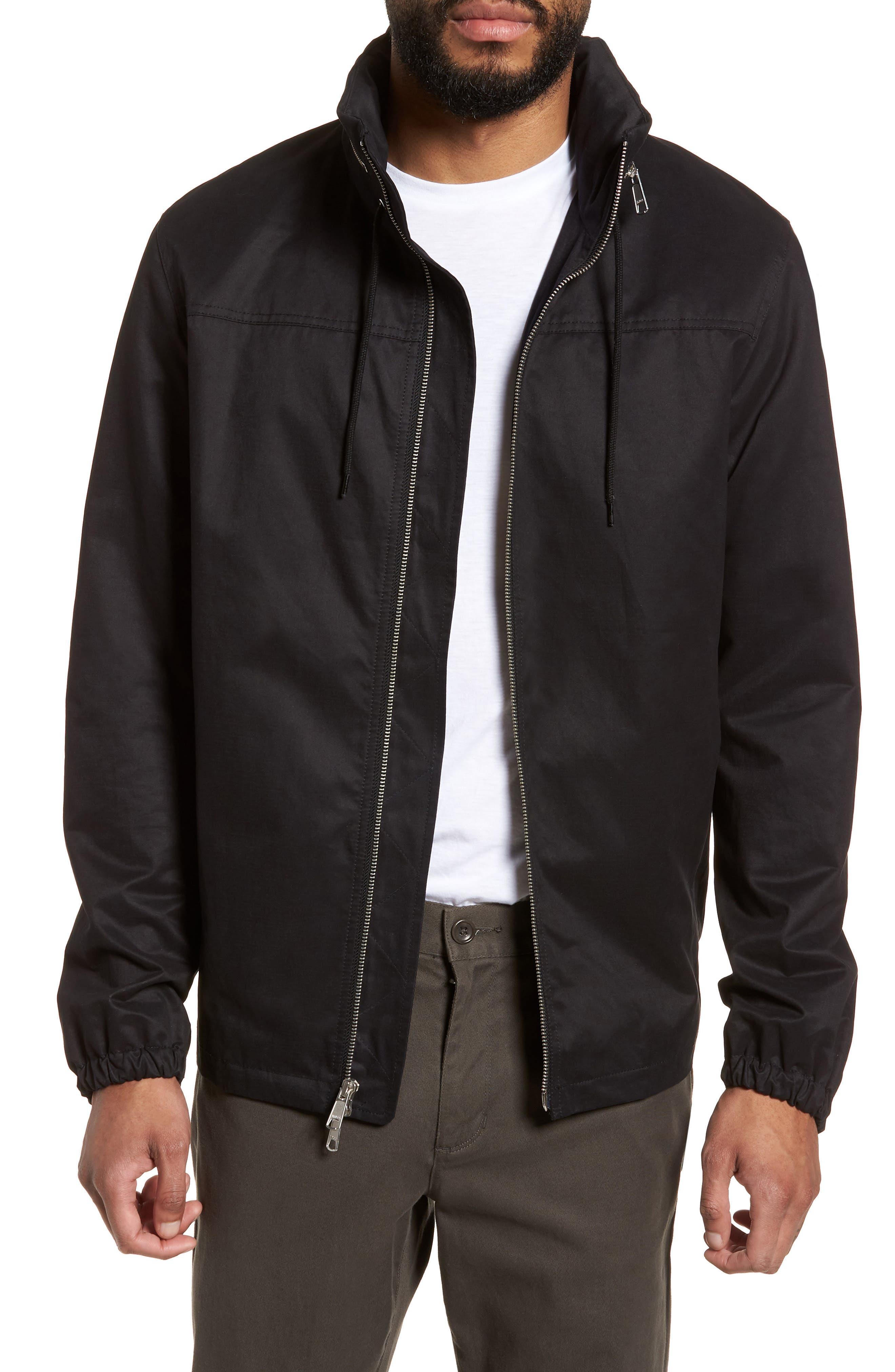 Regular Fit Hooded Jacket,                             Main thumbnail 1, color,                             001