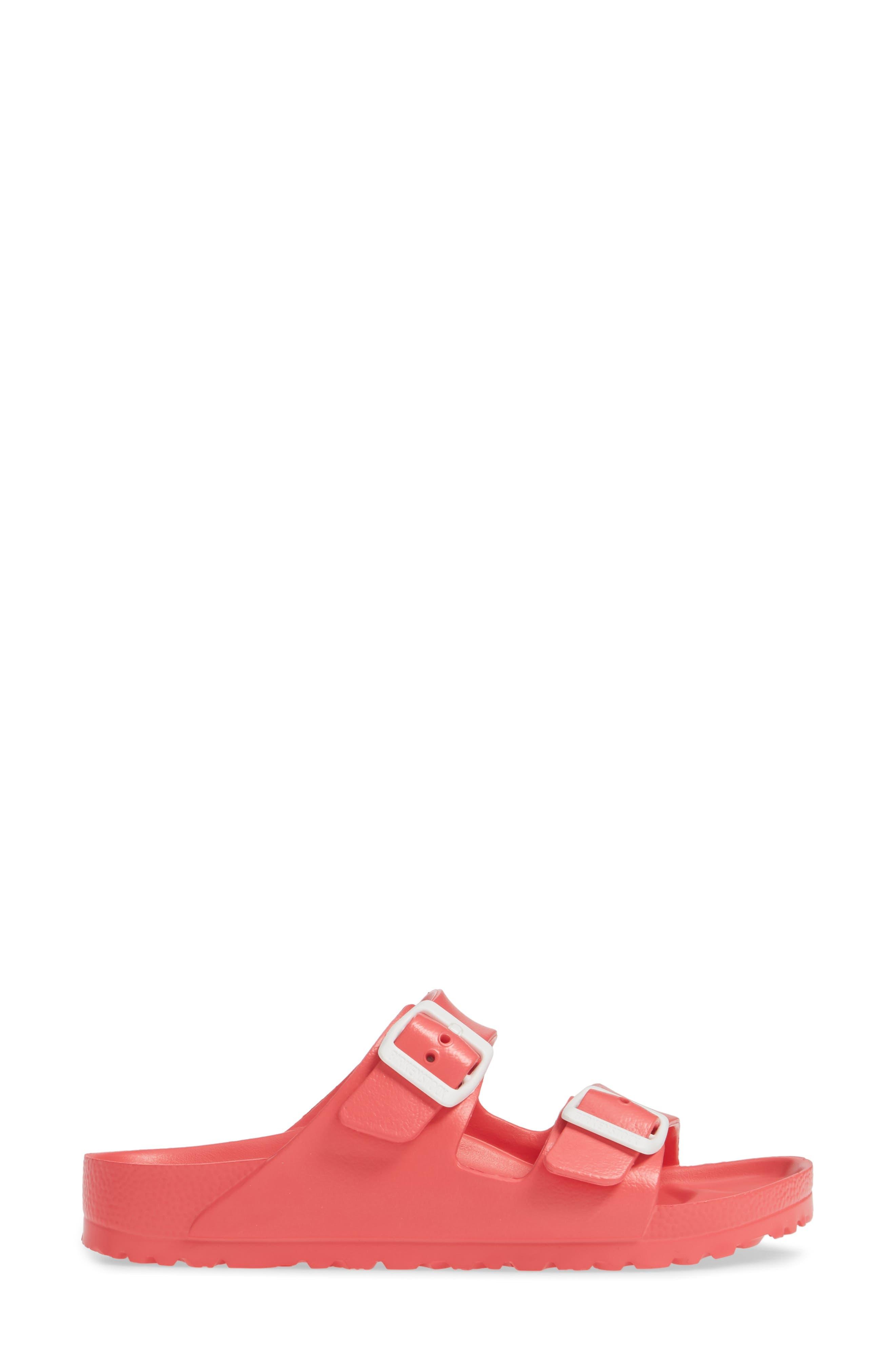 BIRKENSTOCK,                             Essentials - Arizona Slide Sandal,                             Alternate thumbnail 3, color,                             CORAL EVA