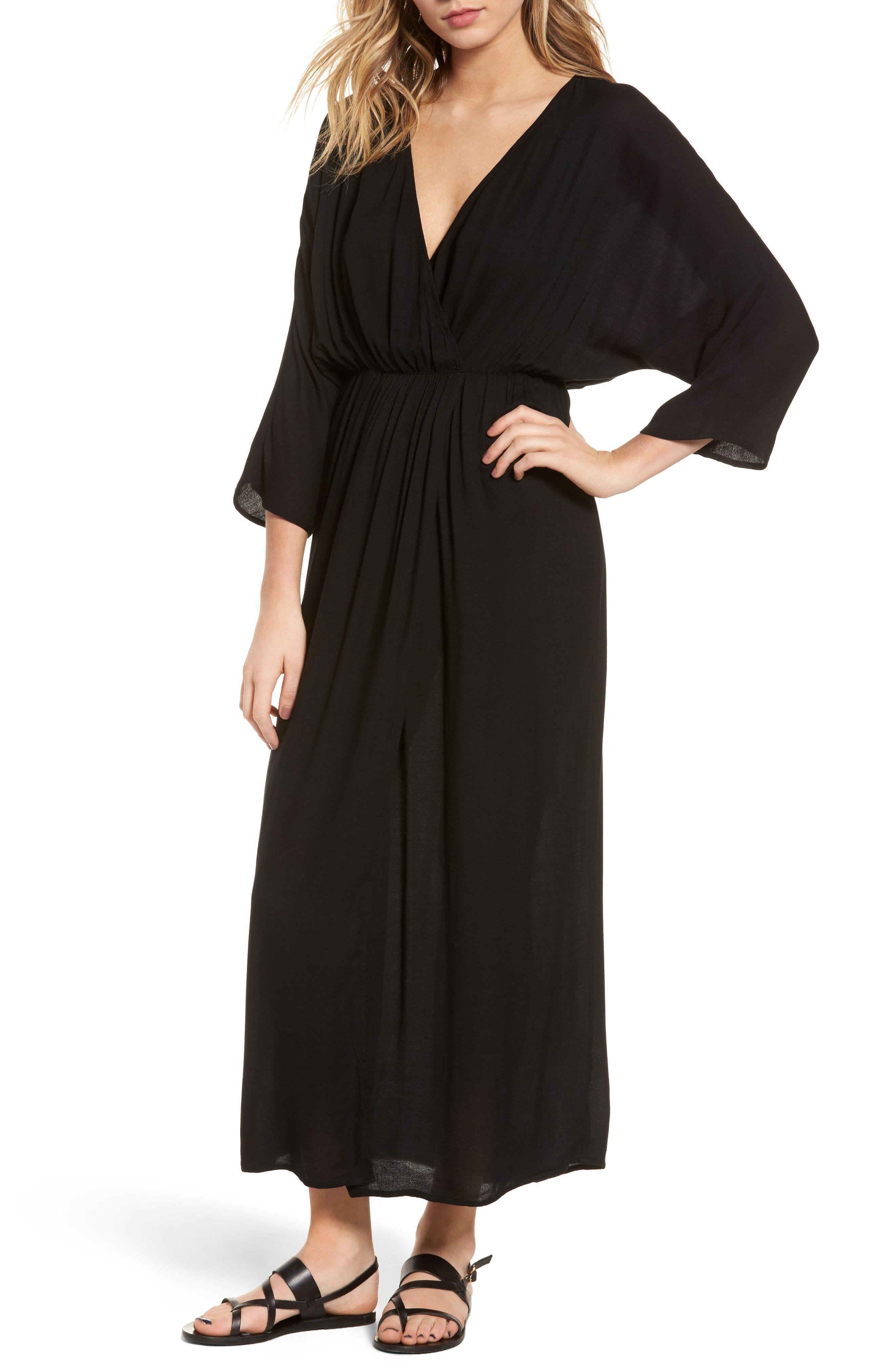 Blouson Maxi Dress,                             Main thumbnail 1, color,                             001