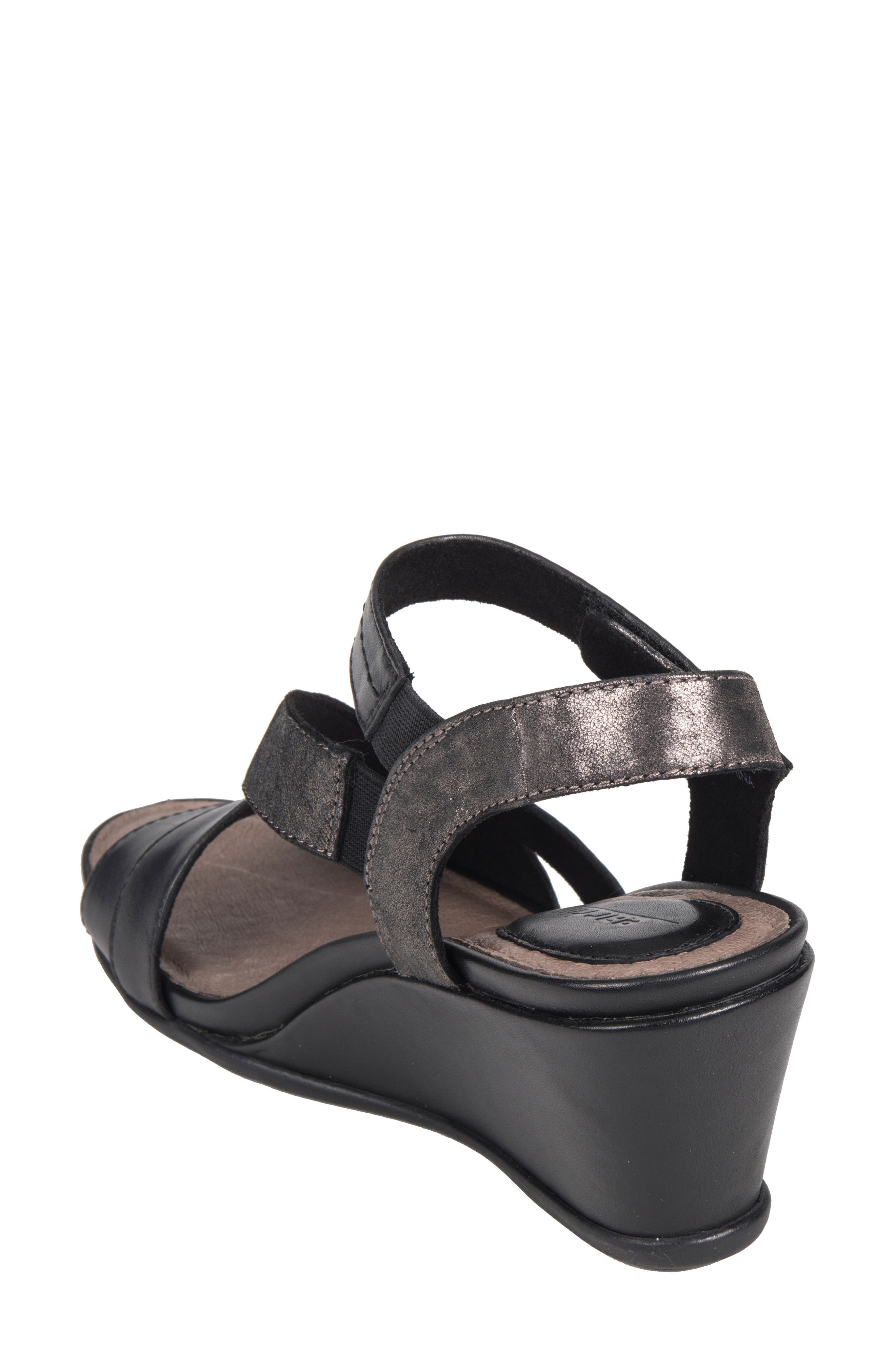 Thistle Wedge Sandal,                             Alternate thumbnail 6, color,                             001