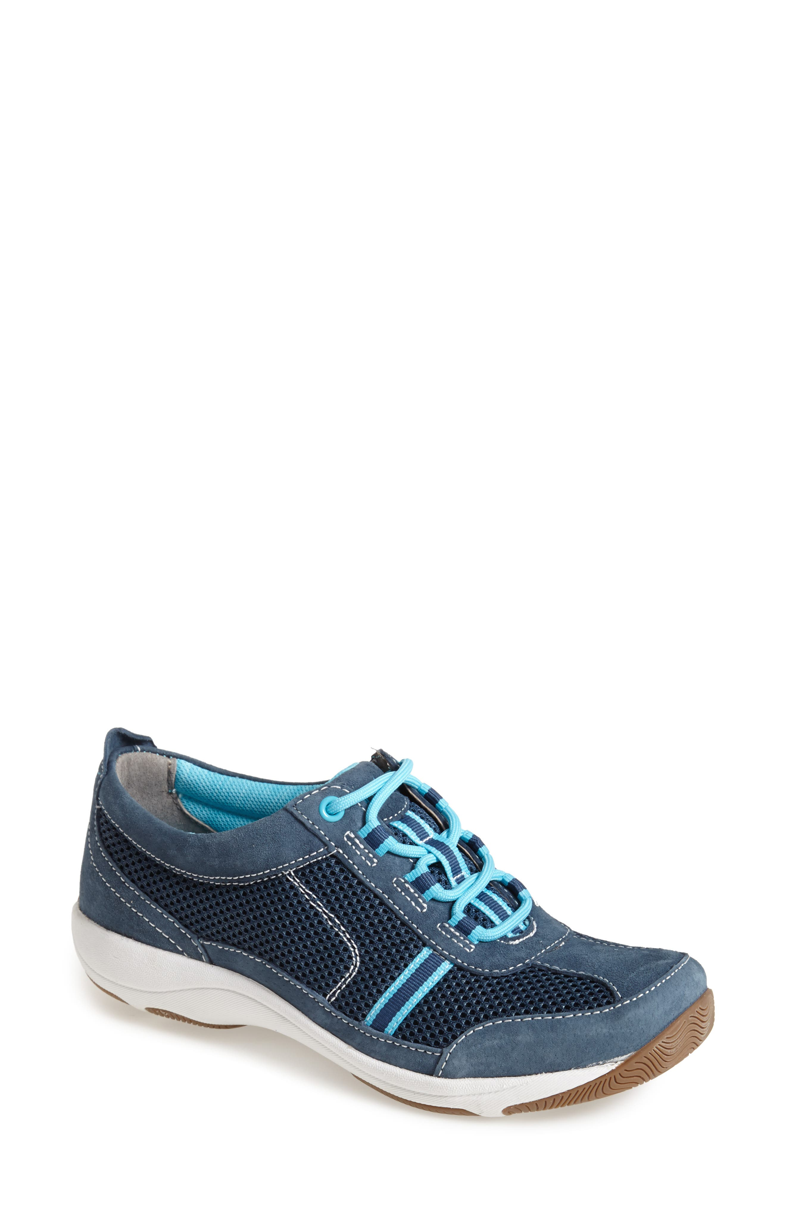 'Helen' Suede & Mesh Sneaker,                             Alternate thumbnail 41, color,