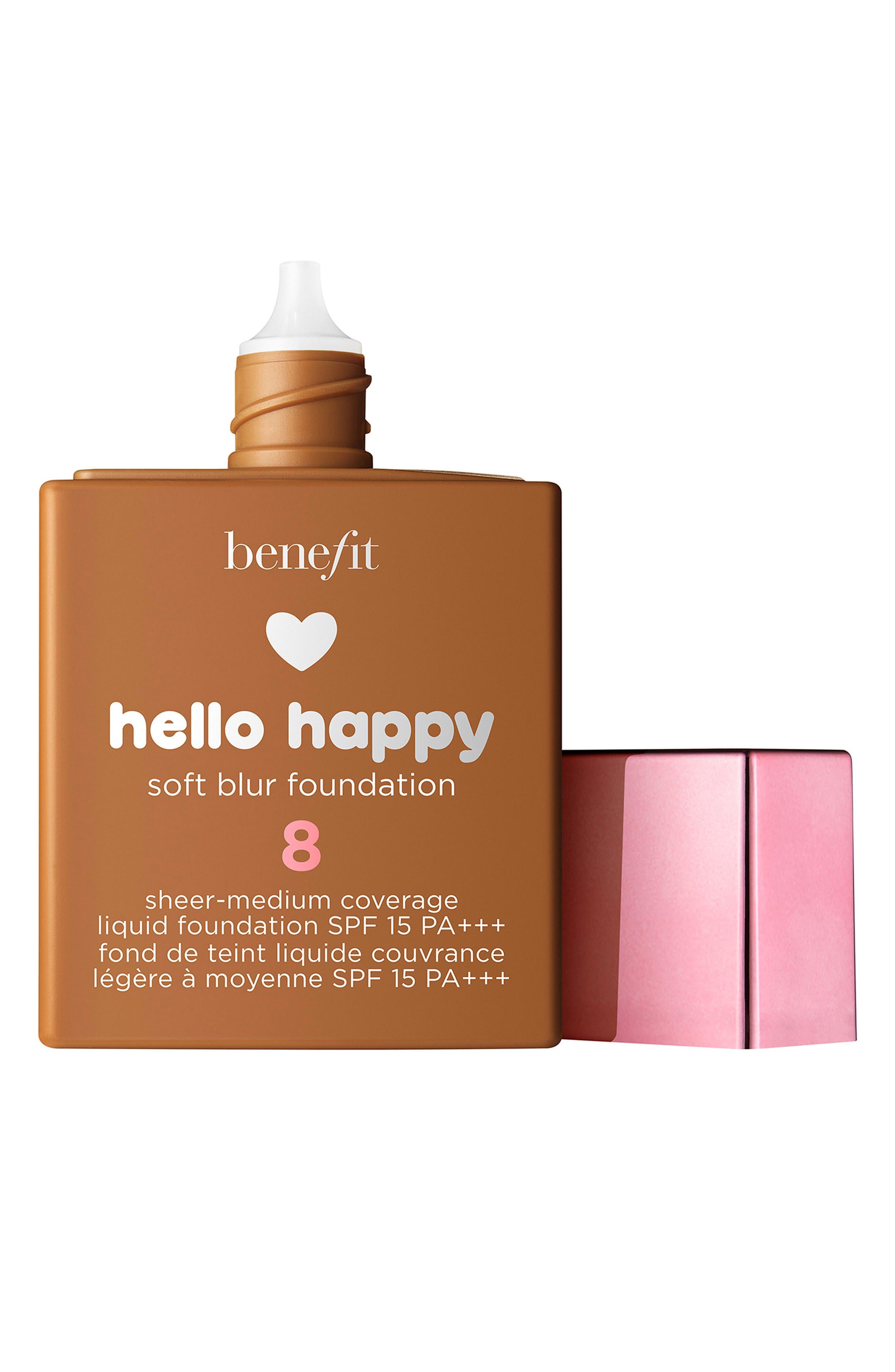 Benefit Hello Happy Soft Blur Foundation,                             Main thumbnail 1, color,                             8 TAN / WARM