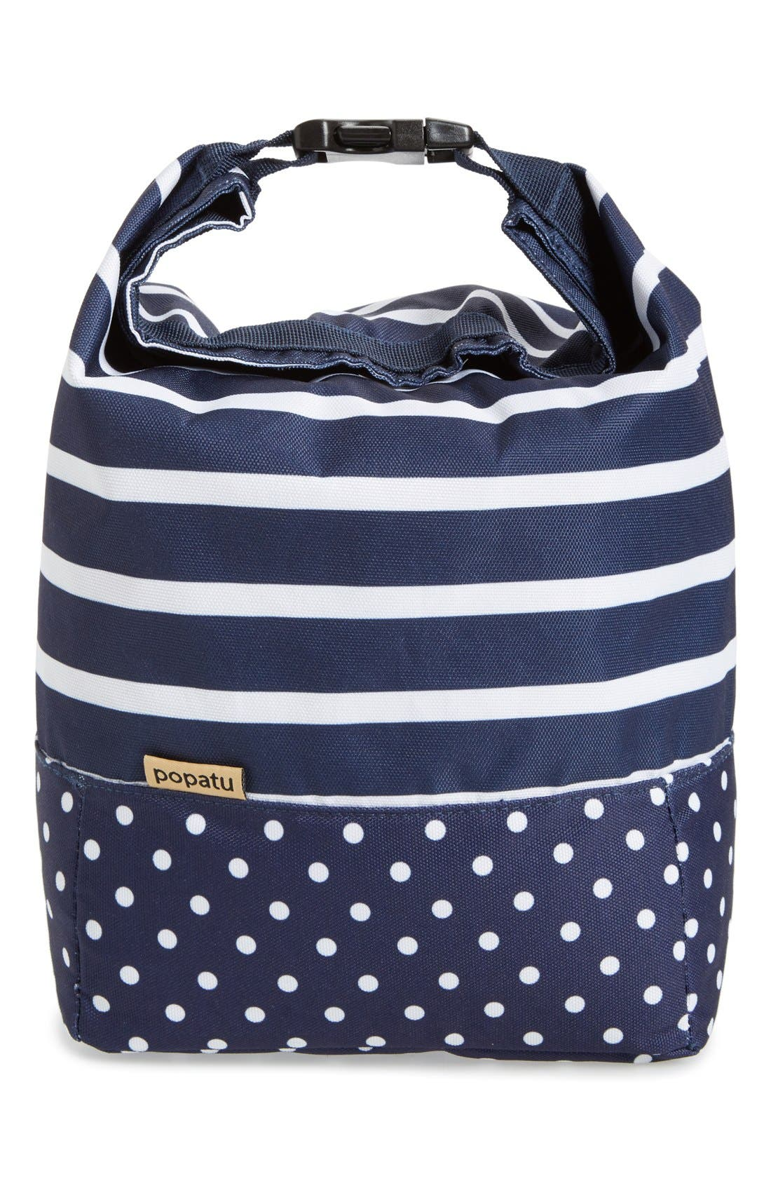 Roll Top Lunch Bag, Main, color, 411