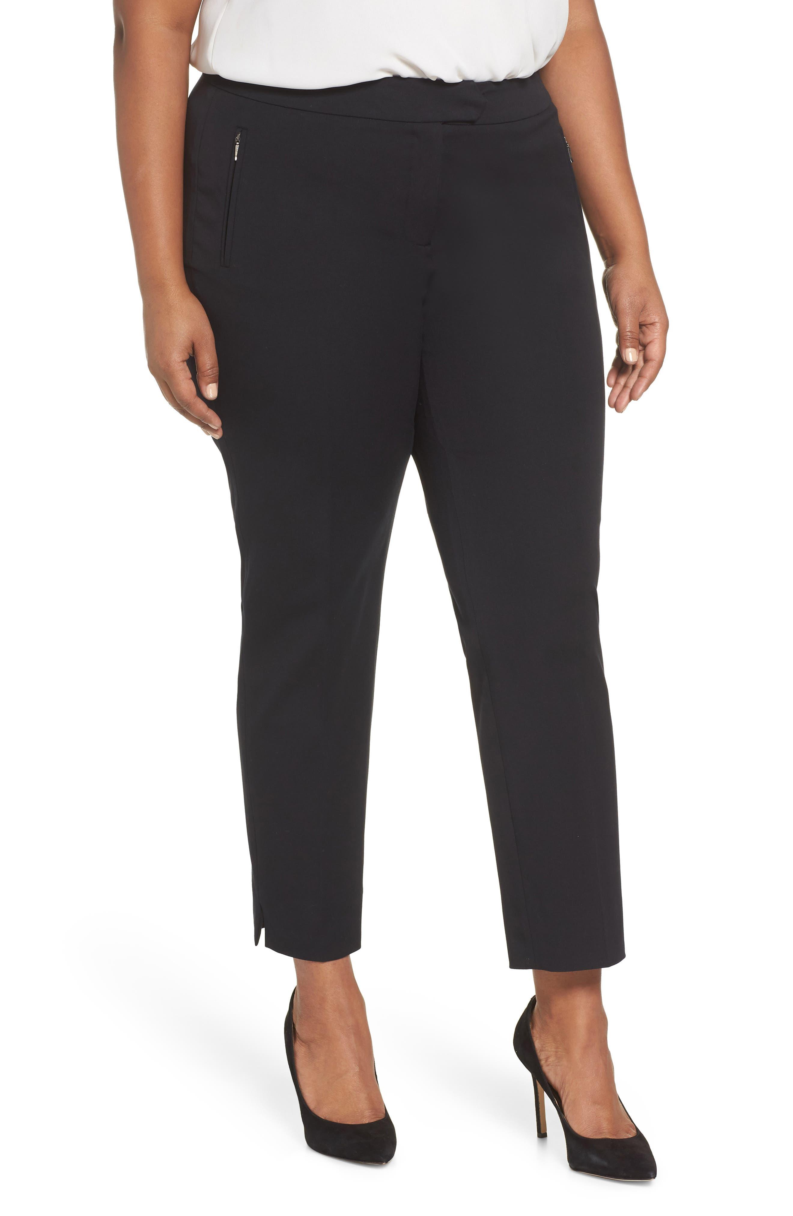 Zip Taper Pants,                         Main,                         color, BLACK