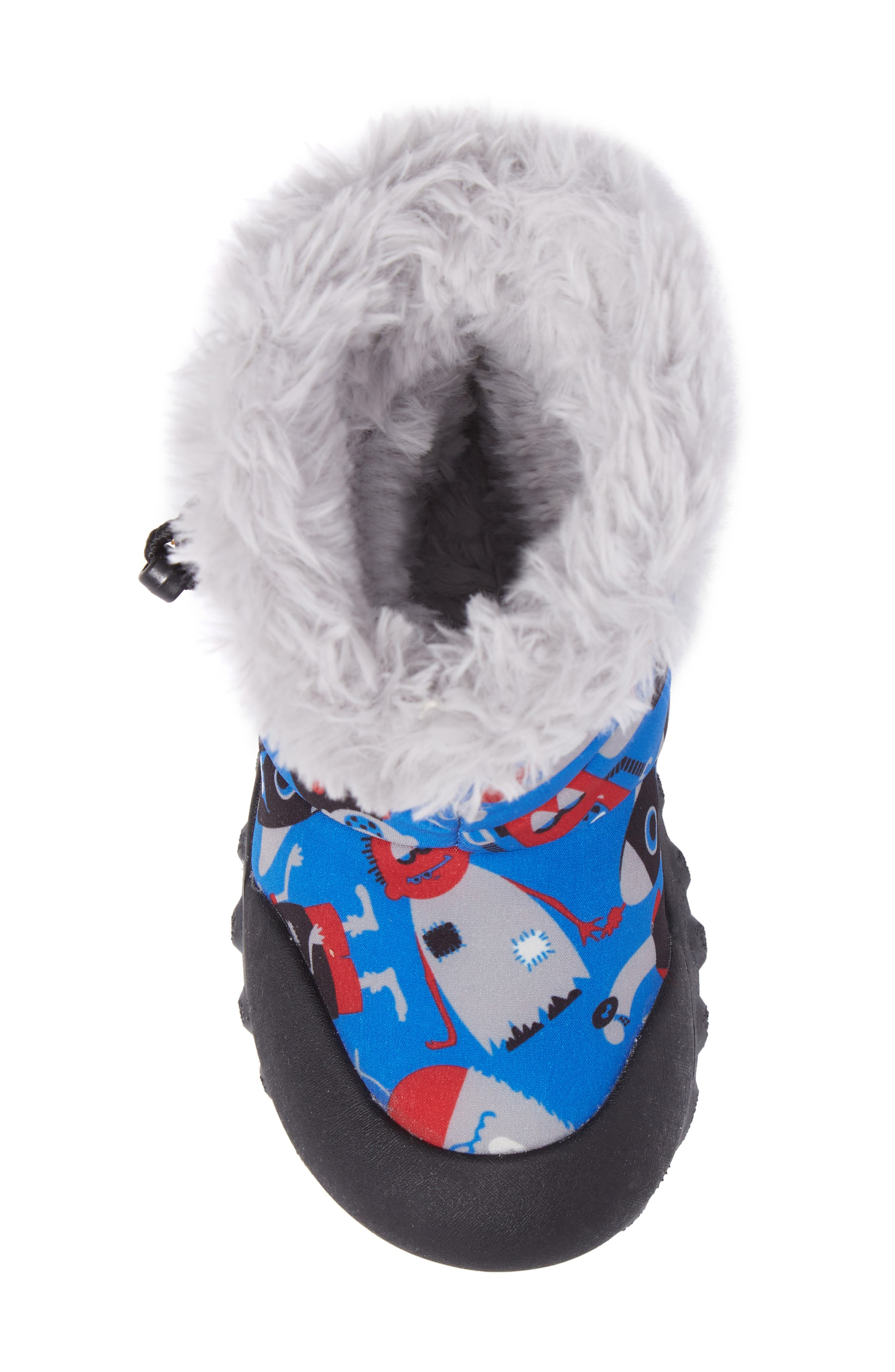 B-MOC Monsters Waterproof Insulated Faux Fur Winter Boot,                             Alternate thumbnail 5, color,                             409