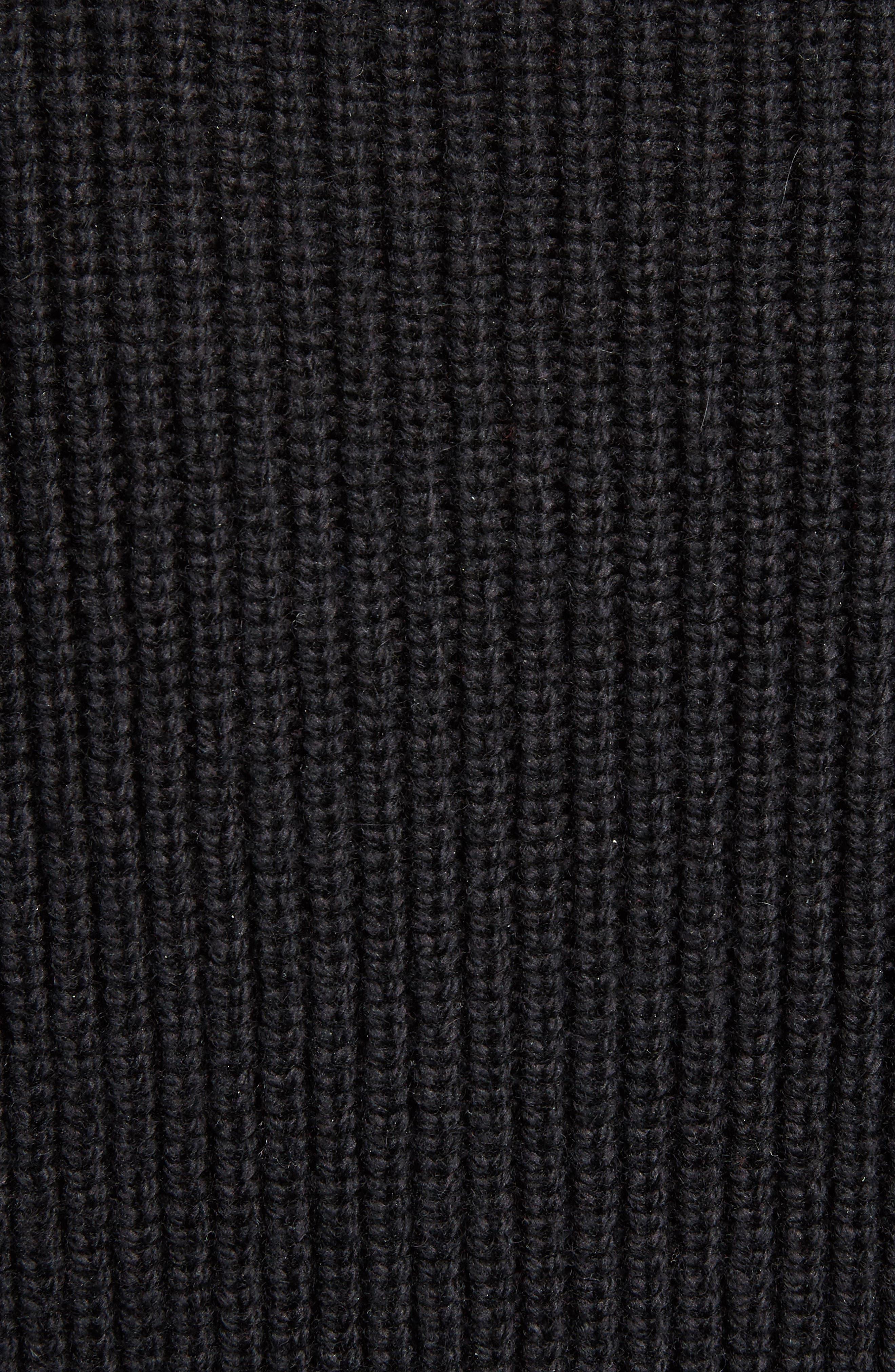 Wool & Cashmere Blend Knit Tunic,                             Alternate thumbnail 5, color,                             001