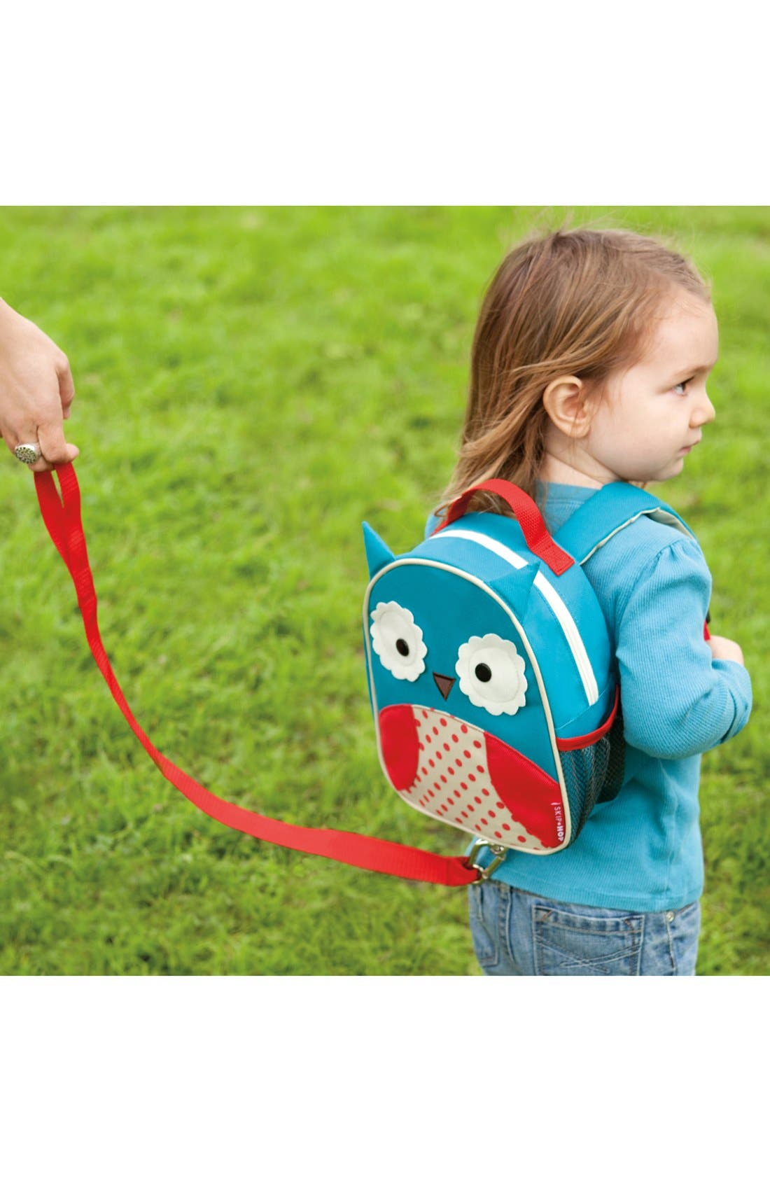 Monkey Zoo Safety Harness Backpack,                             Alternate thumbnail 6, color,                             OWL