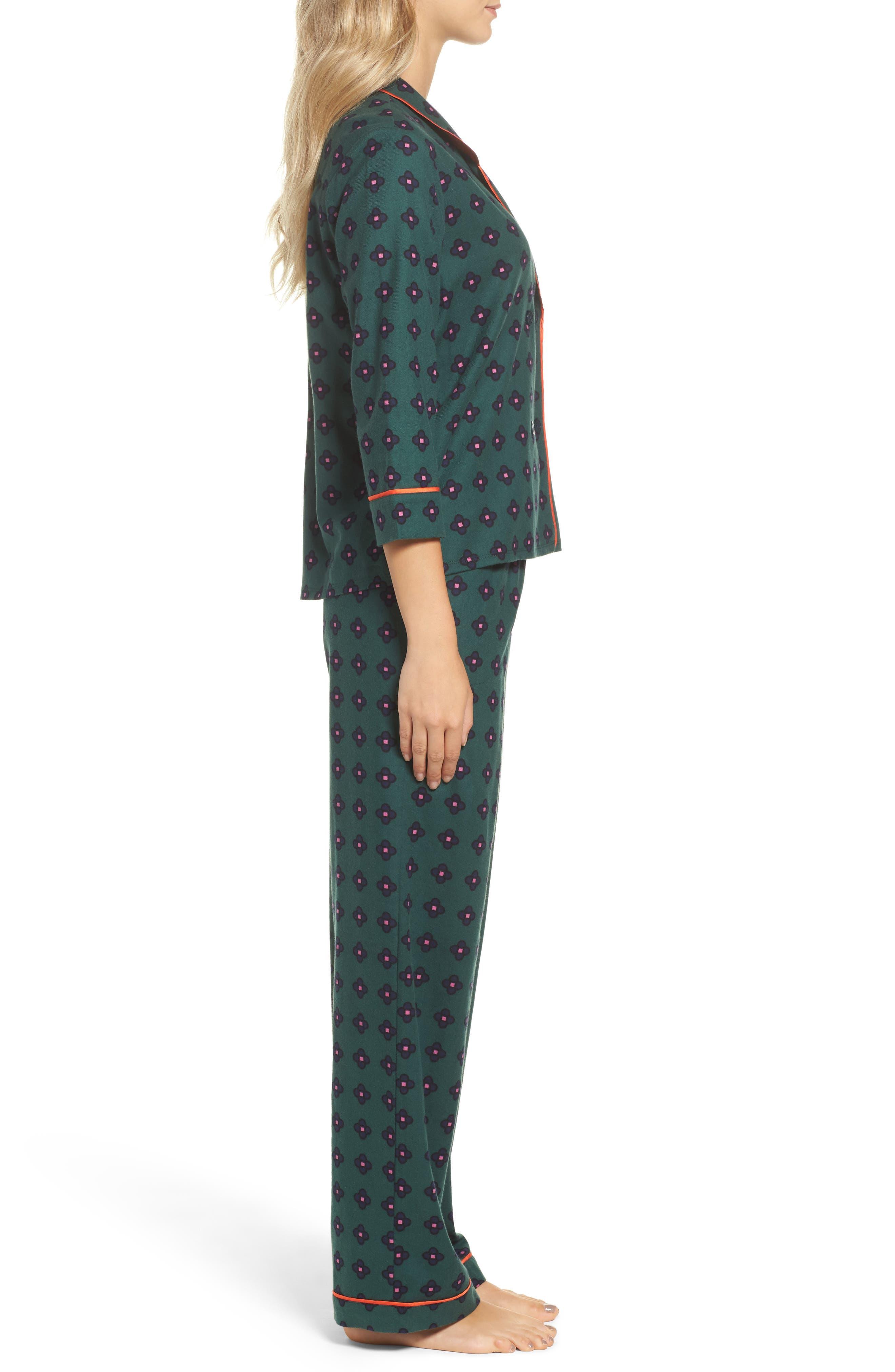Flannel Pajamas,                             Alternate thumbnail 8, color,
