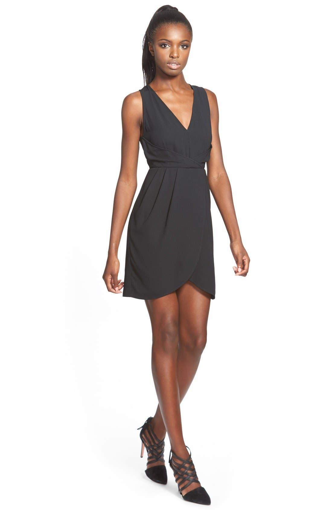 Petal Hem Sheath Dress,                             Main thumbnail 1, color,                             001