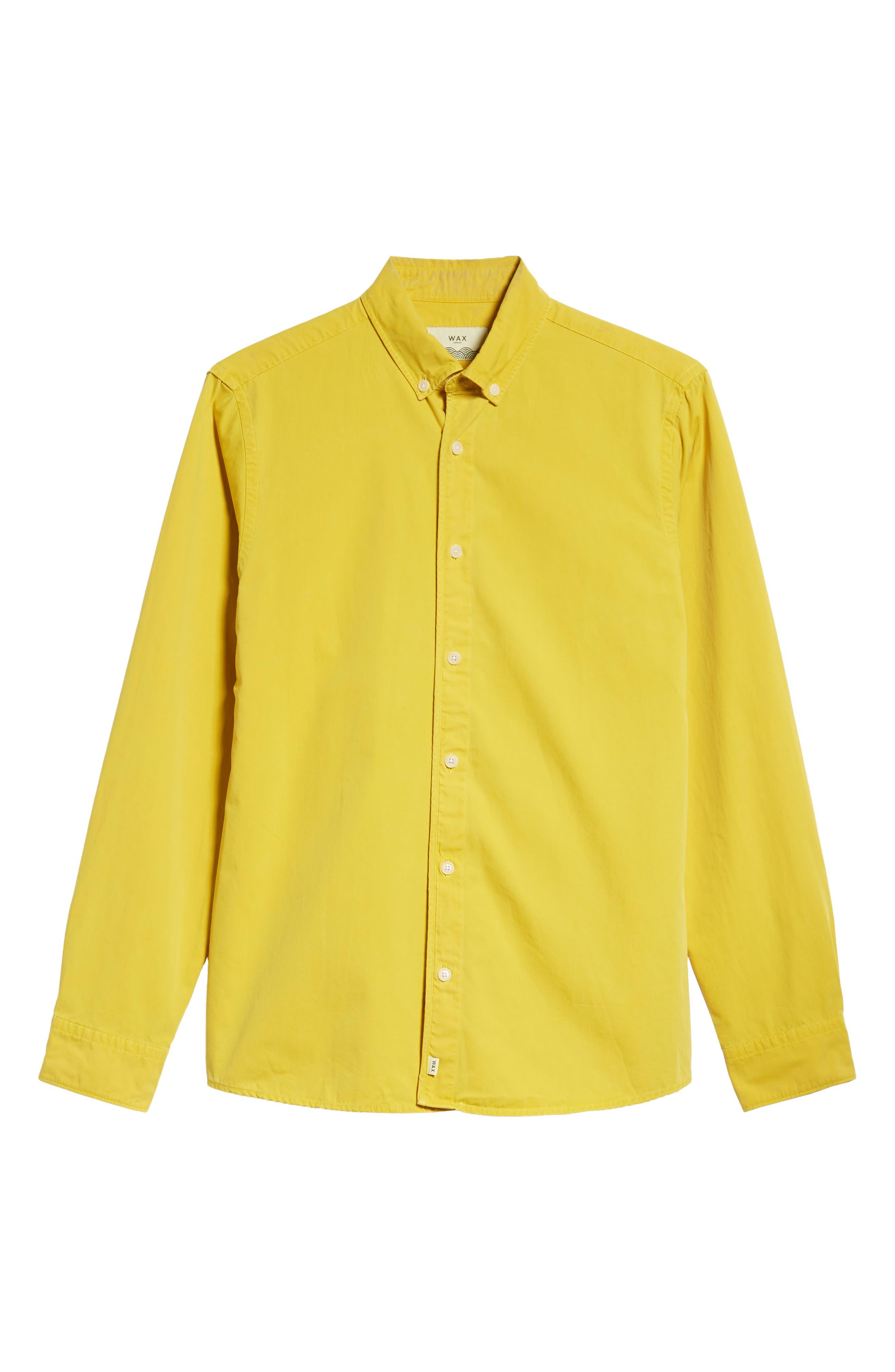 Bampton Solid Sport Shirt,                             Alternate thumbnail 5, color,                             LEMON