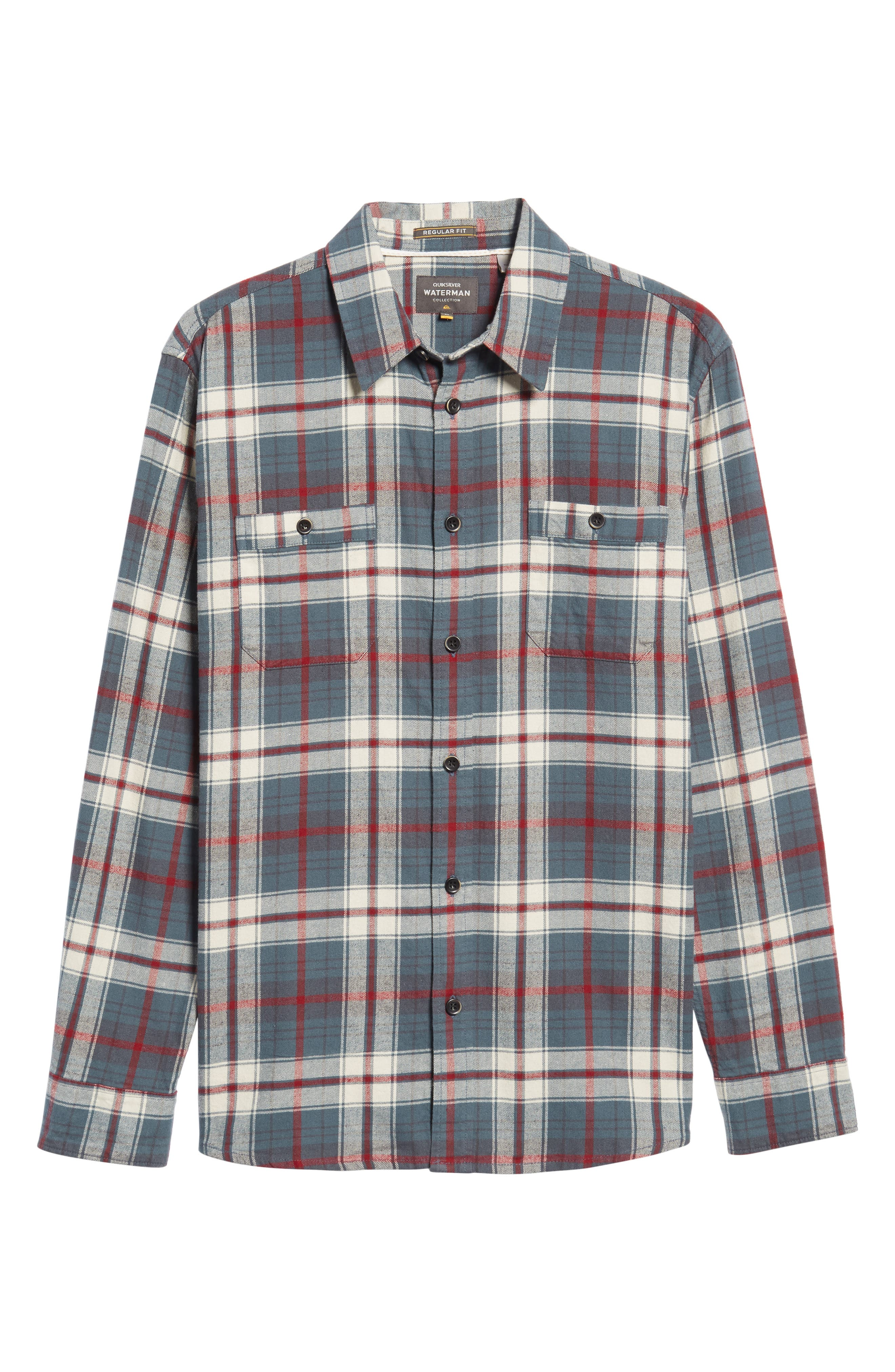 Raleigh Plaid Flannel Sport Shirt,                             Alternate thumbnail 6, color,                             009
