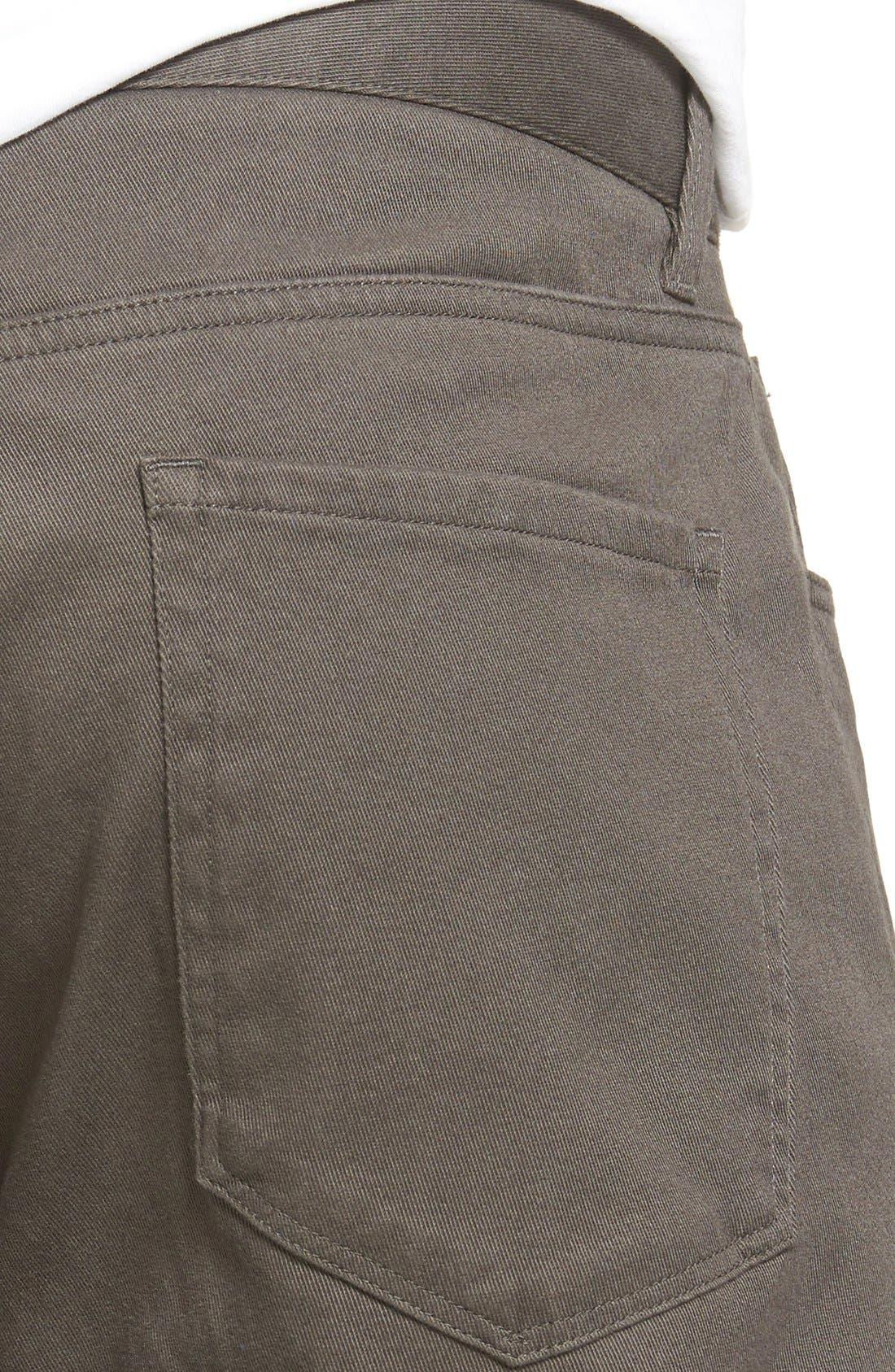 Soho Slim Fit Five-Pocket Pants,                             Alternate thumbnail 5, color,                             GREY
