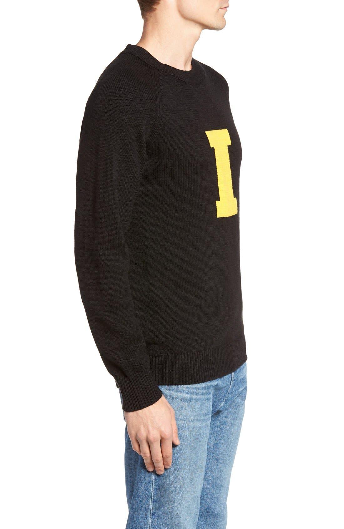 HILLFLINT,                             Iowa Heritage Sweater,                             Alternate thumbnail 3, color,                             001