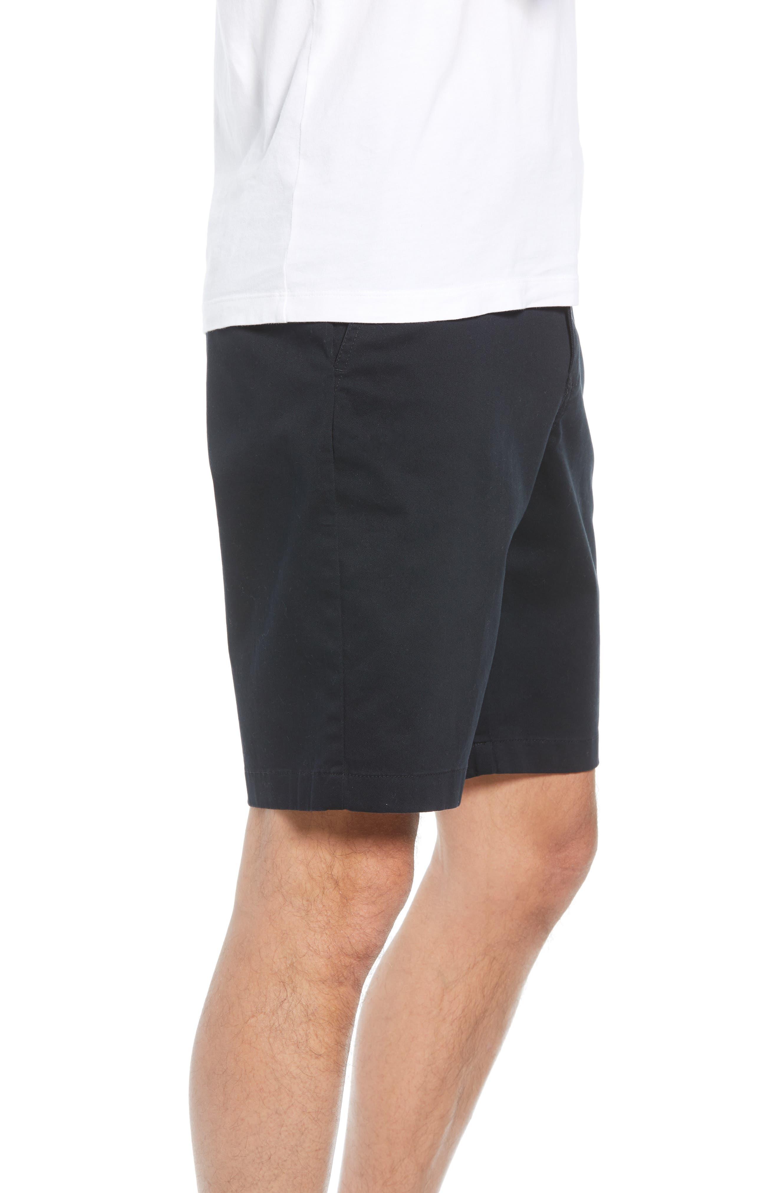 Flat Front Shorts,                             Alternate thumbnail 3, color,                             001