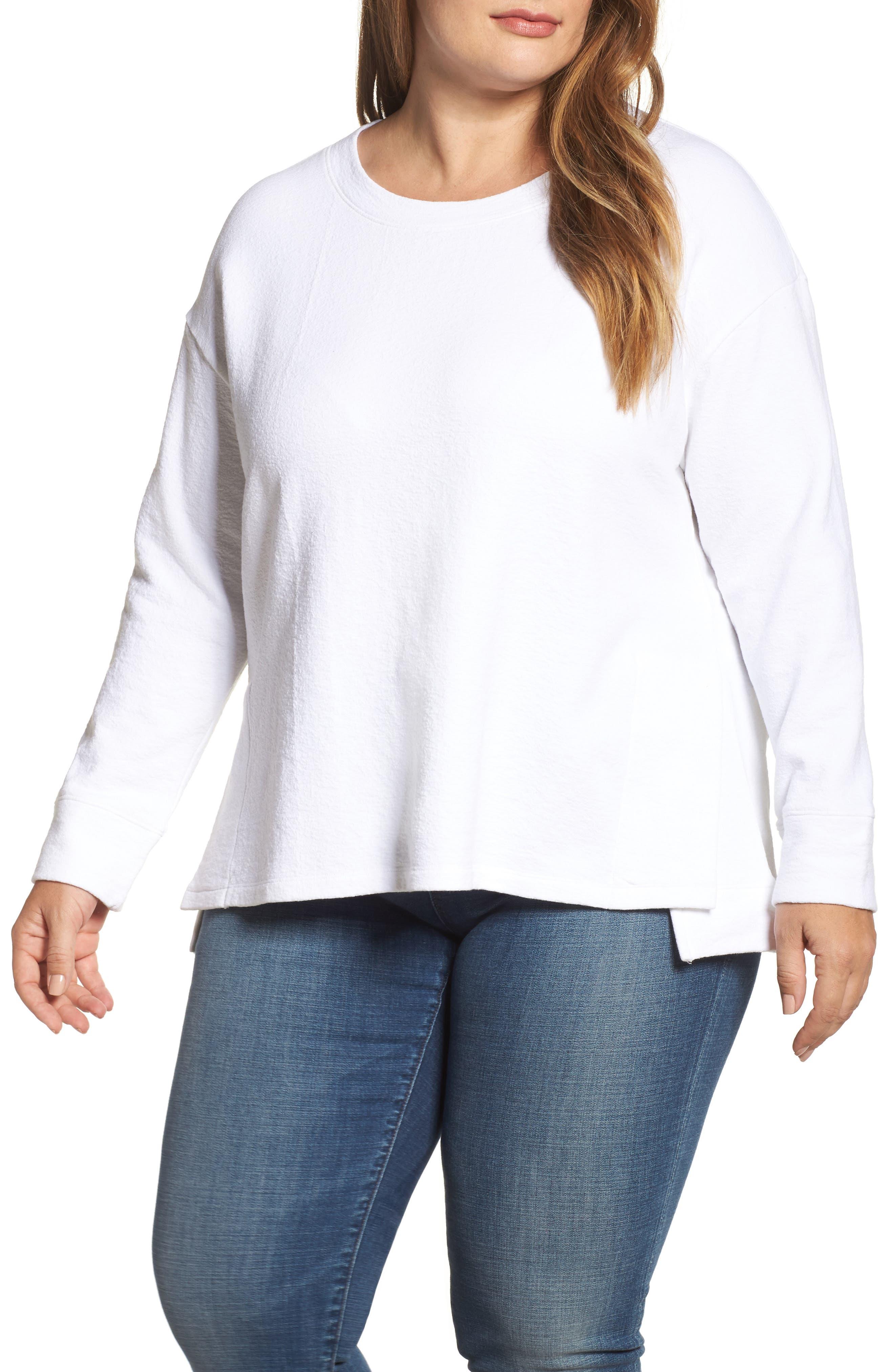 Side Slit Sweatshirt,                             Main thumbnail 1, color,                             100