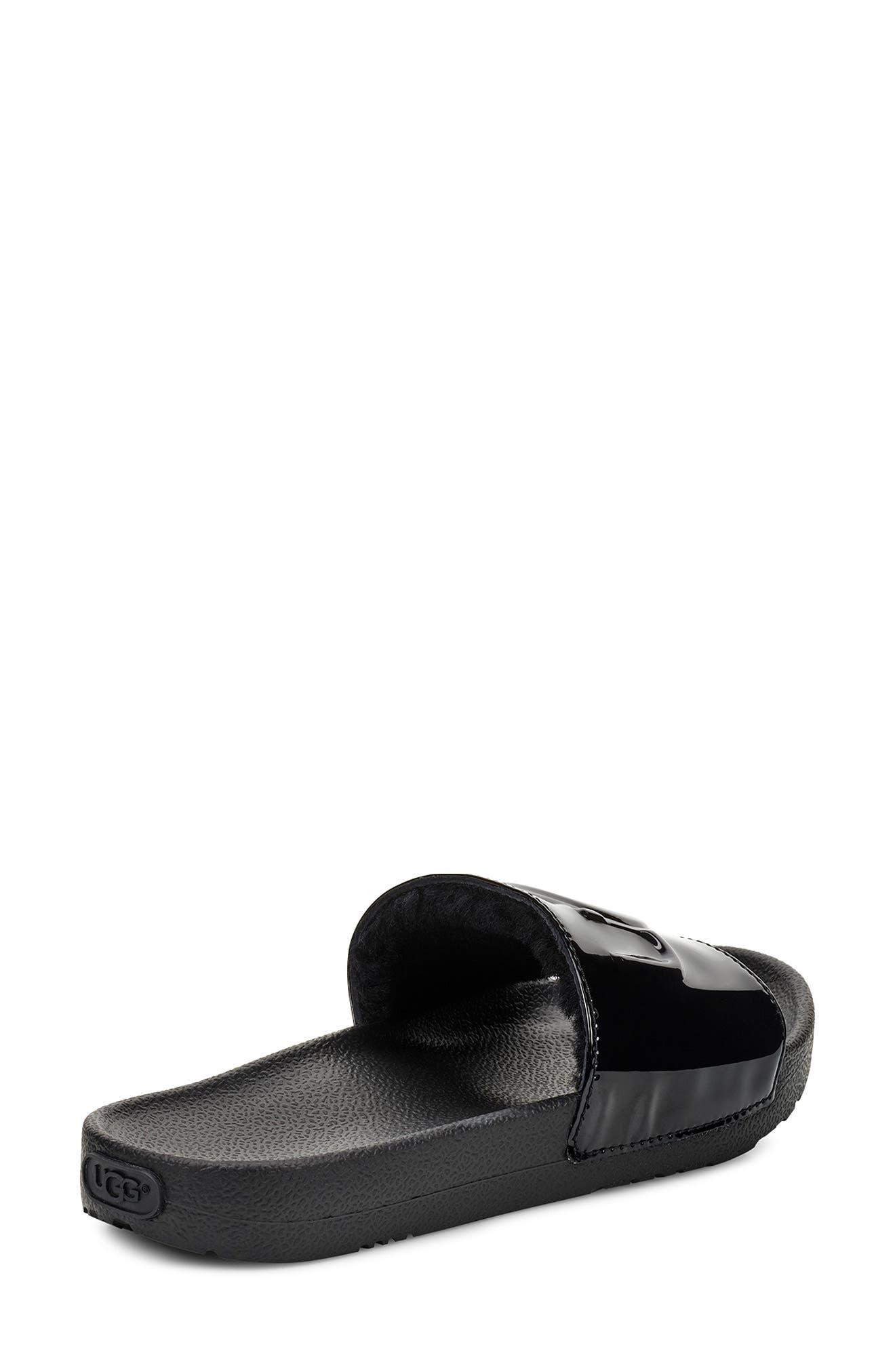 UGG<SUP>®</SUP>,                             Royale Slide Sandal,                             Alternate thumbnail 2, color,                             BLACK