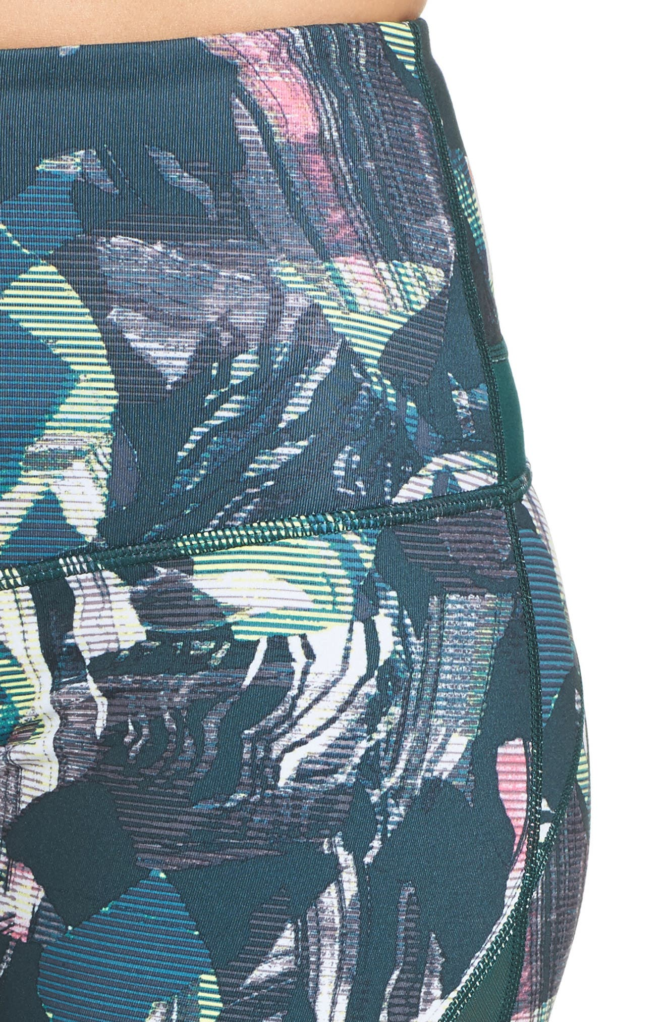 Sheer to There High Waist Crop Leggings,                             Alternate thumbnail 9, color,