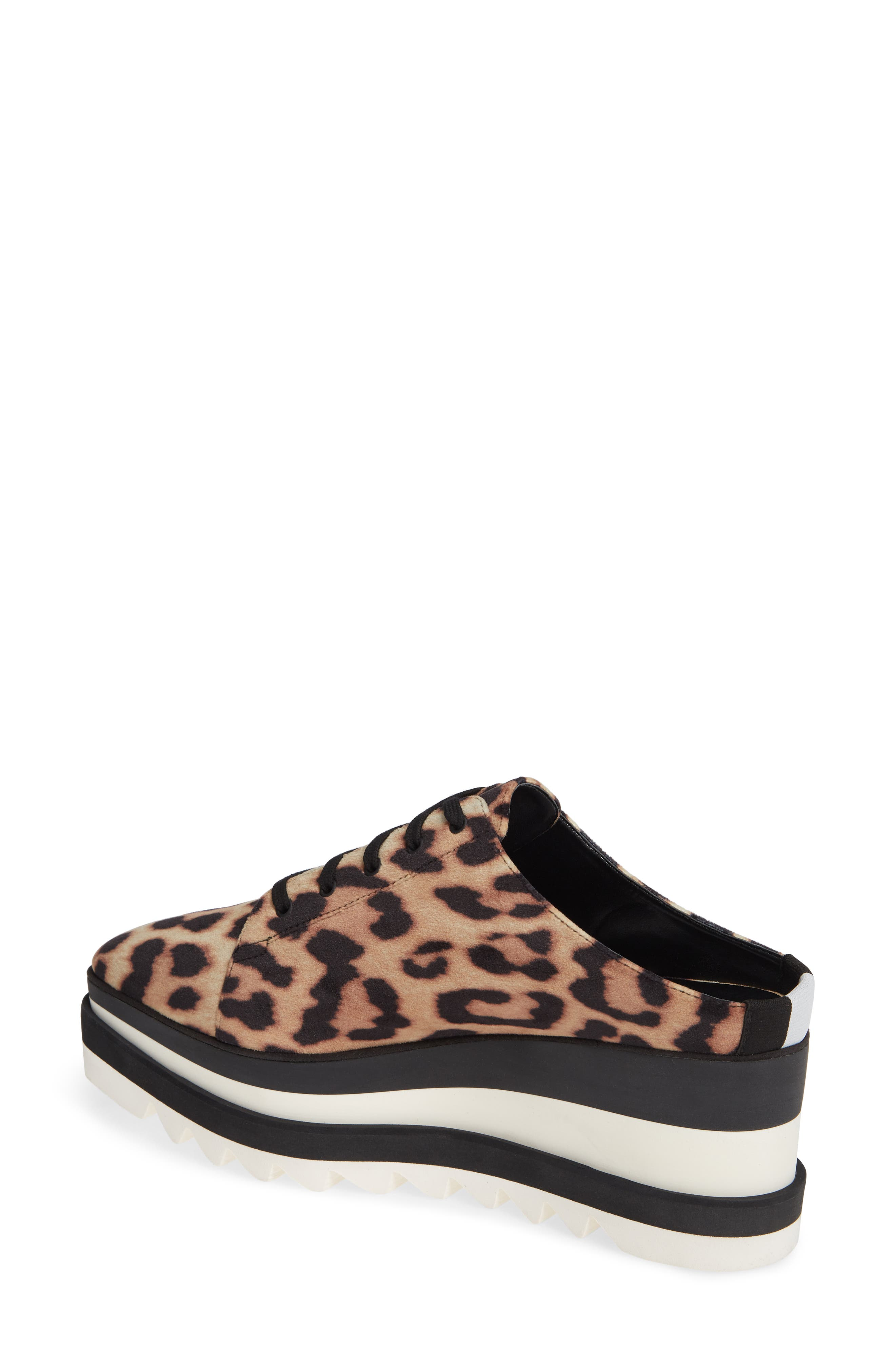 Sneak-Elyse Platform Mule,                             Alternate thumbnail 2, color,                             LEOPARD PRINT