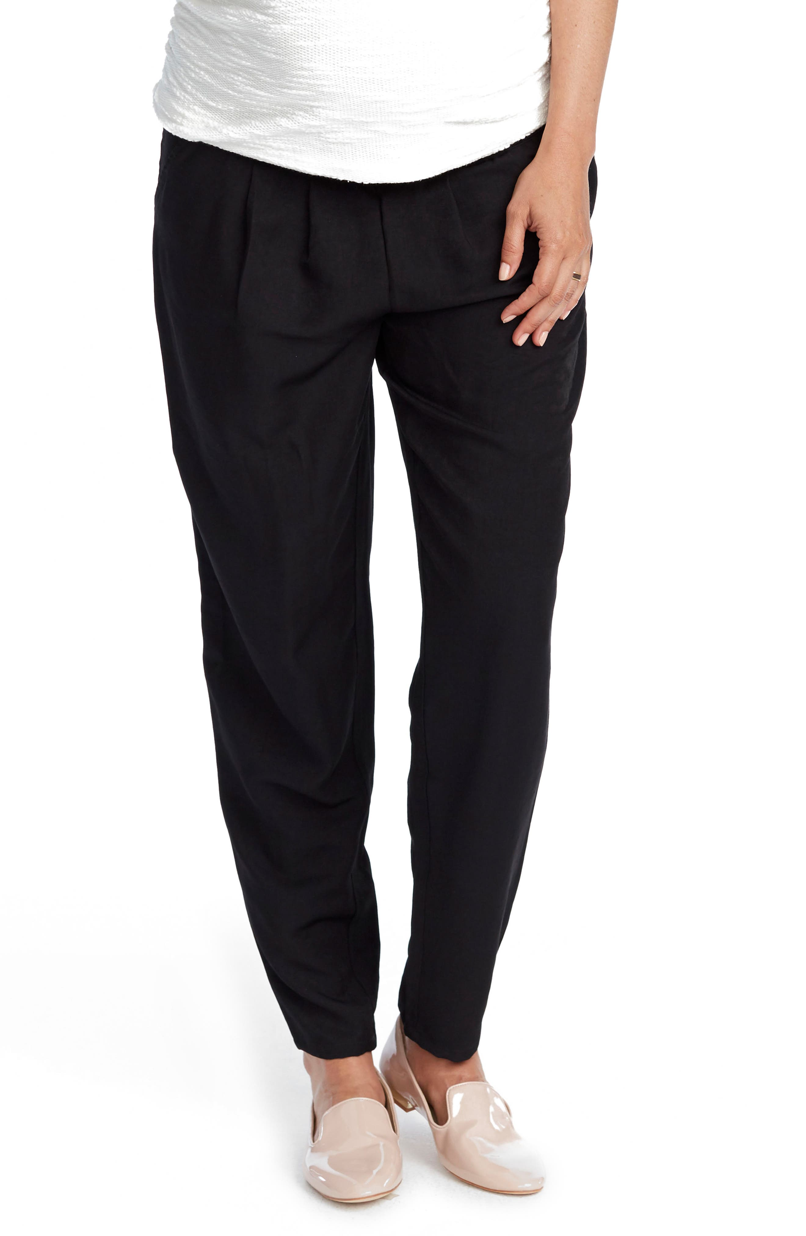 Willow Maternity Pants,                         Main,                         color, BLACK