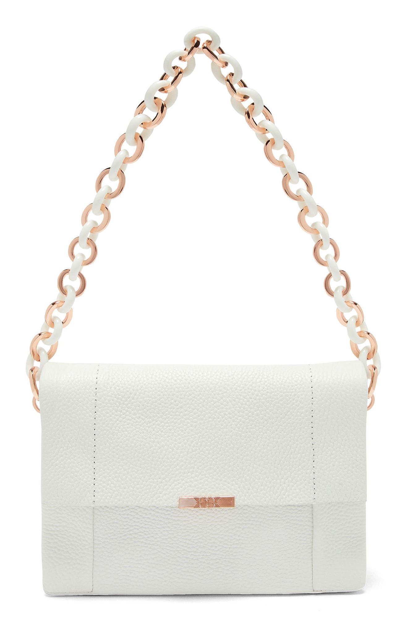 Ipomoea Leather Shoulder Bag,                             Main thumbnail 2, color,