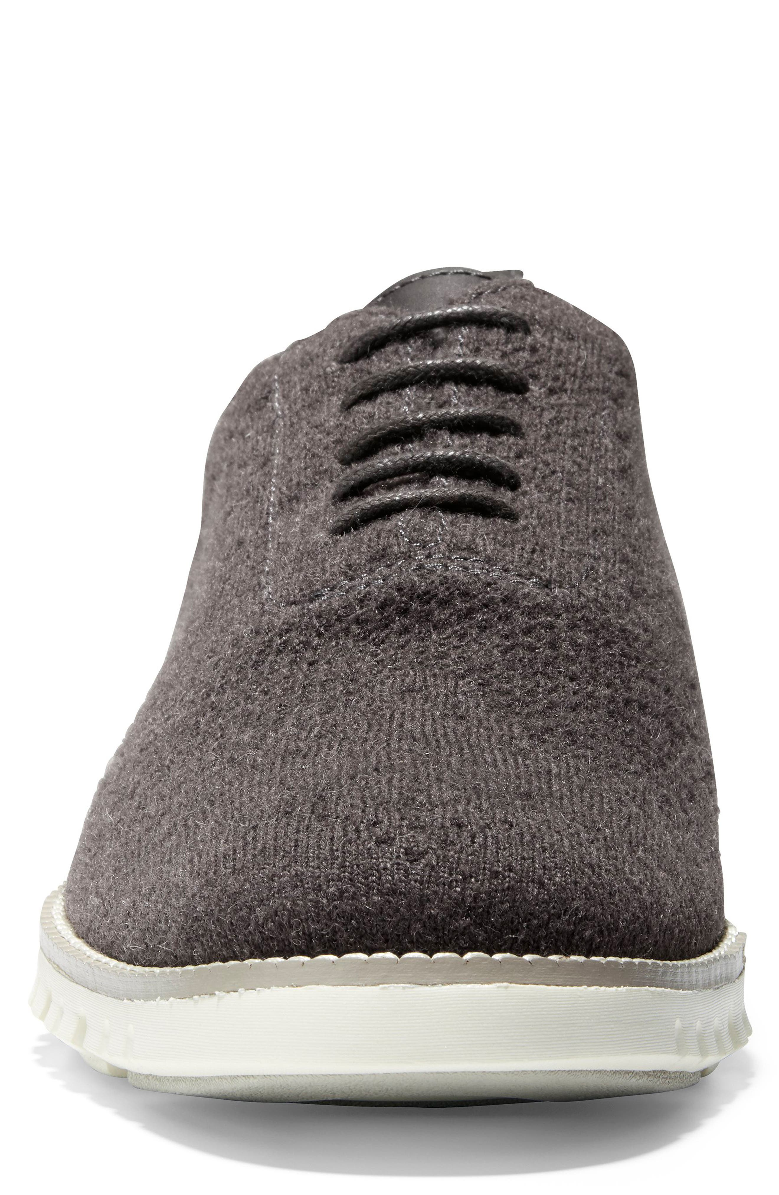 ZeroGrand Stitchlite<sup>™</sup> Water Resistant Wool Oxford,                             Alternate thumbnail 4, color,                             DARK ROAST WOOL KNIT/ IVORY