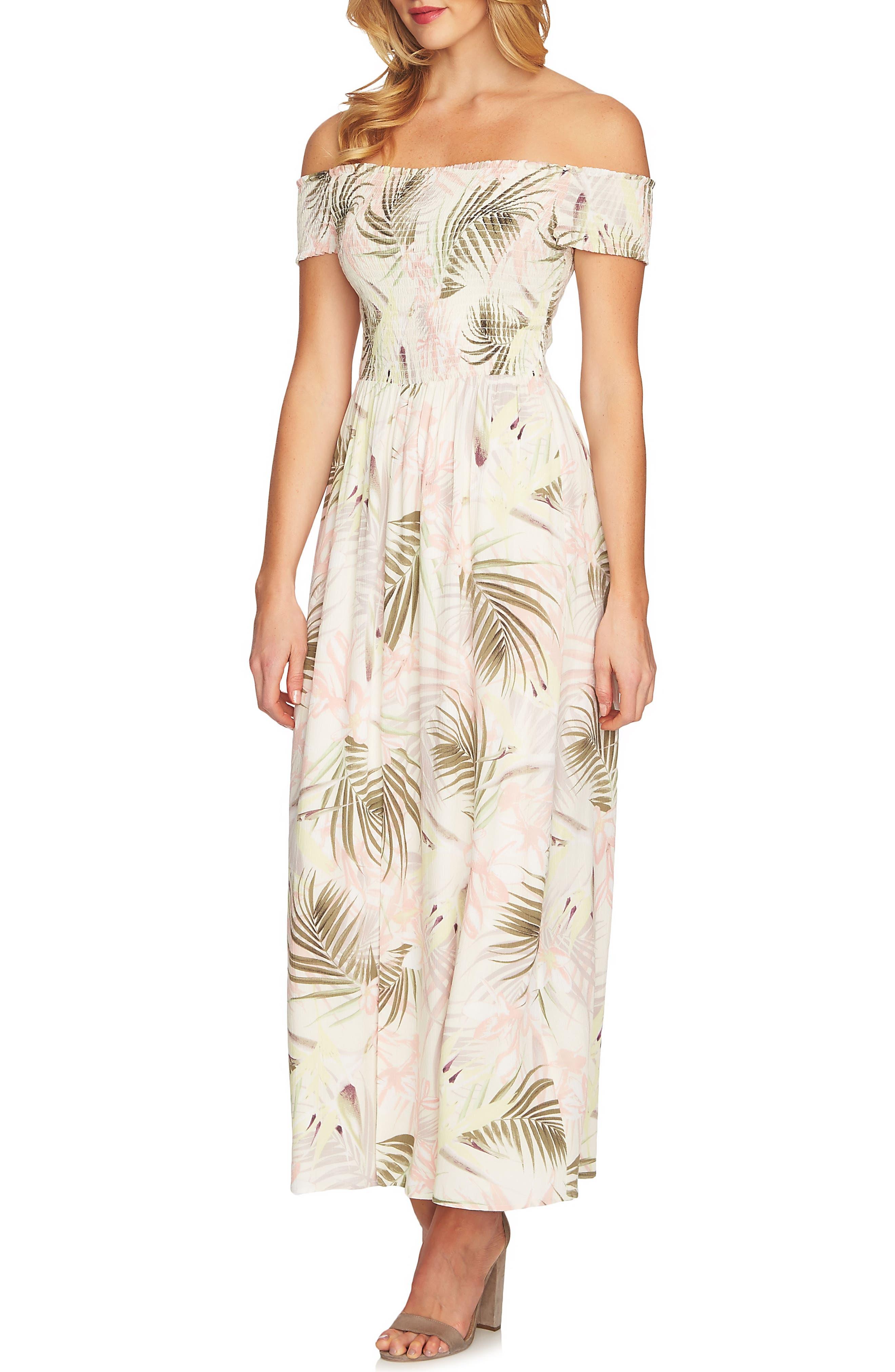 Soft Palm Maxi Dress,                             Main thumbnail 2, color,