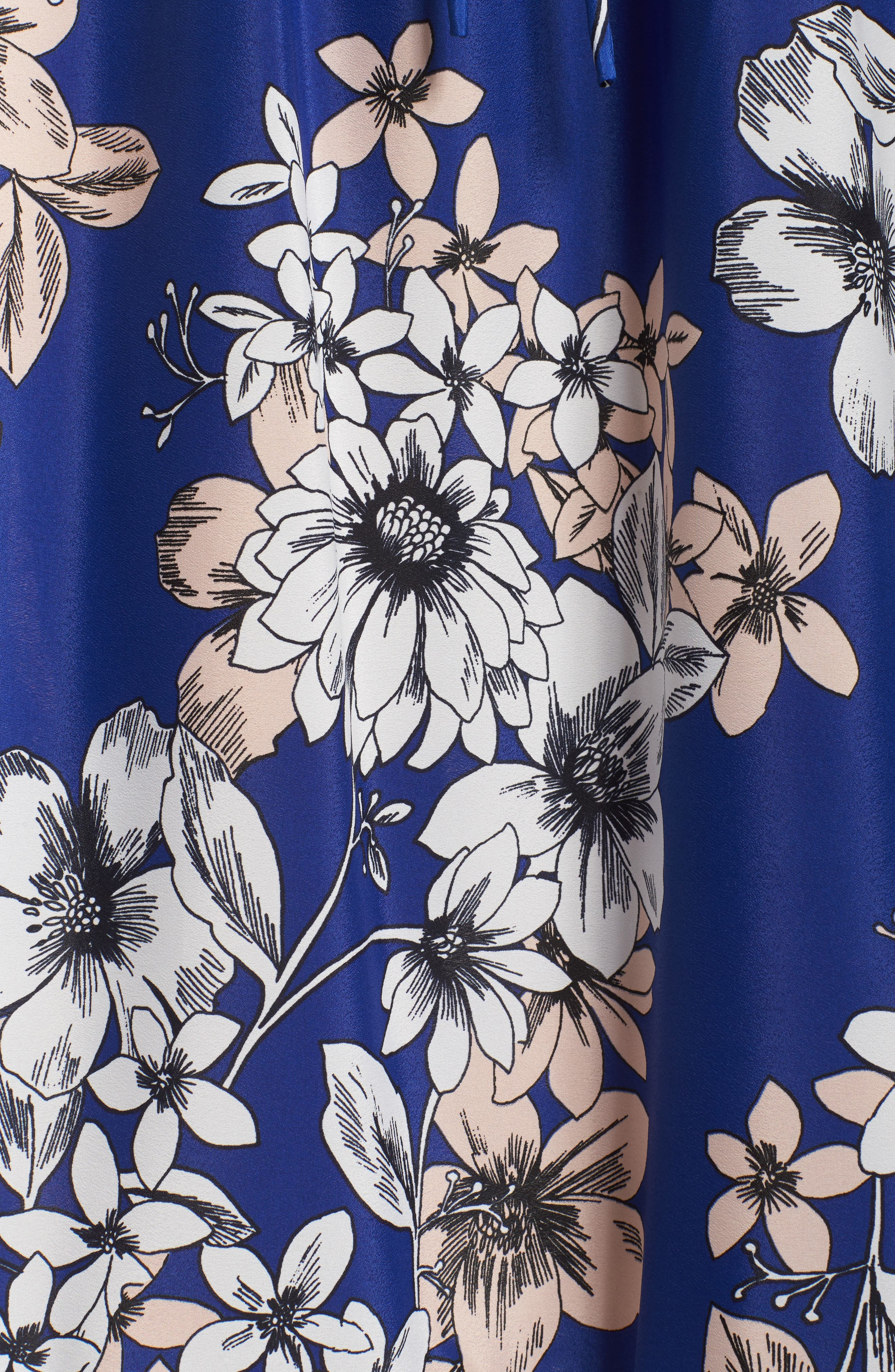Off the Shoulder Floral Maxi Dress,                             Alternate thumbnail 5, color,                             COBALT