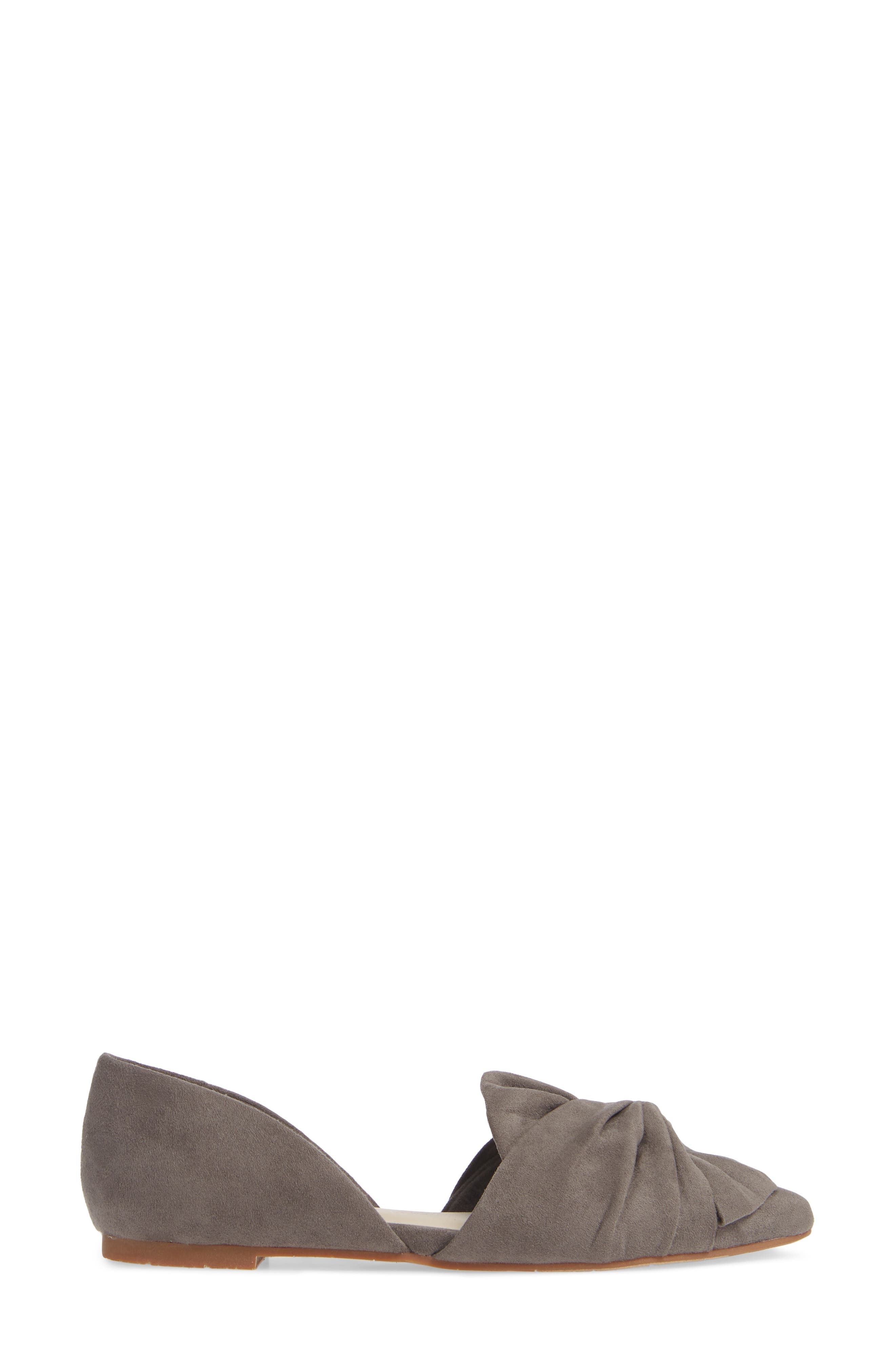 Snow Cone d'Orsay Flat,                             Alternate thumbnail 3, color,                             GREY SUEDE