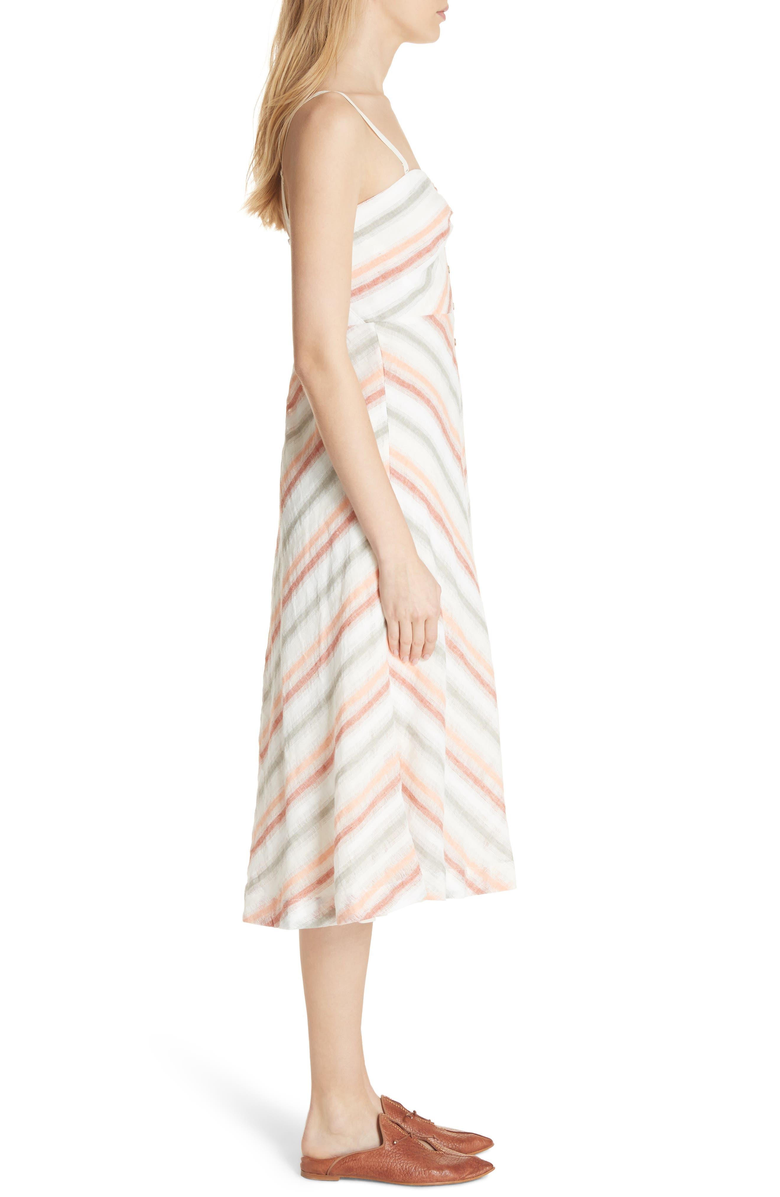 Striking Stripe Midi Dress,                             Alternate thumbnail 3, color,                             903