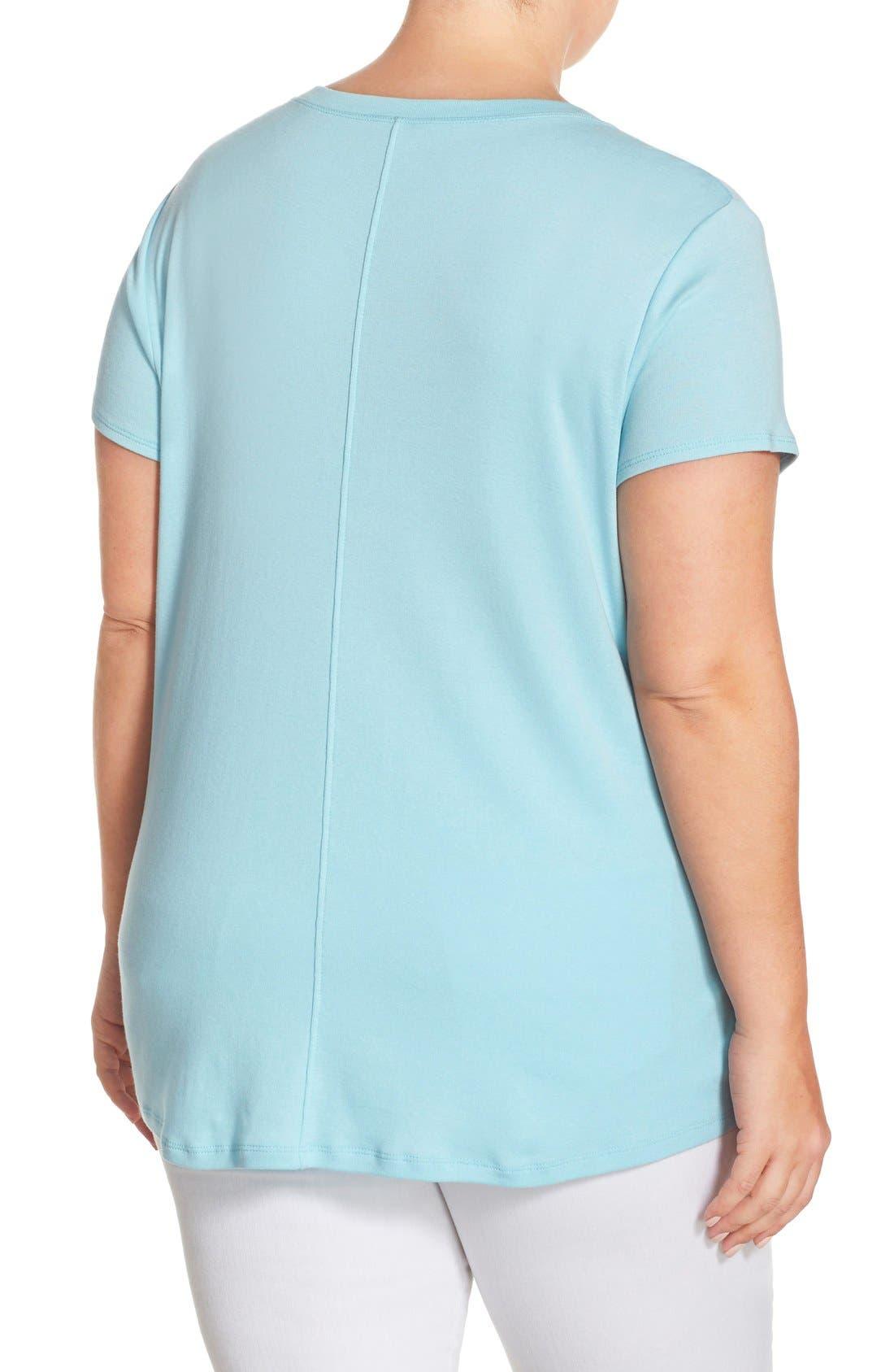 Short Sleeve V-Neck Tee,                             Alternate thumbnail 46, color,