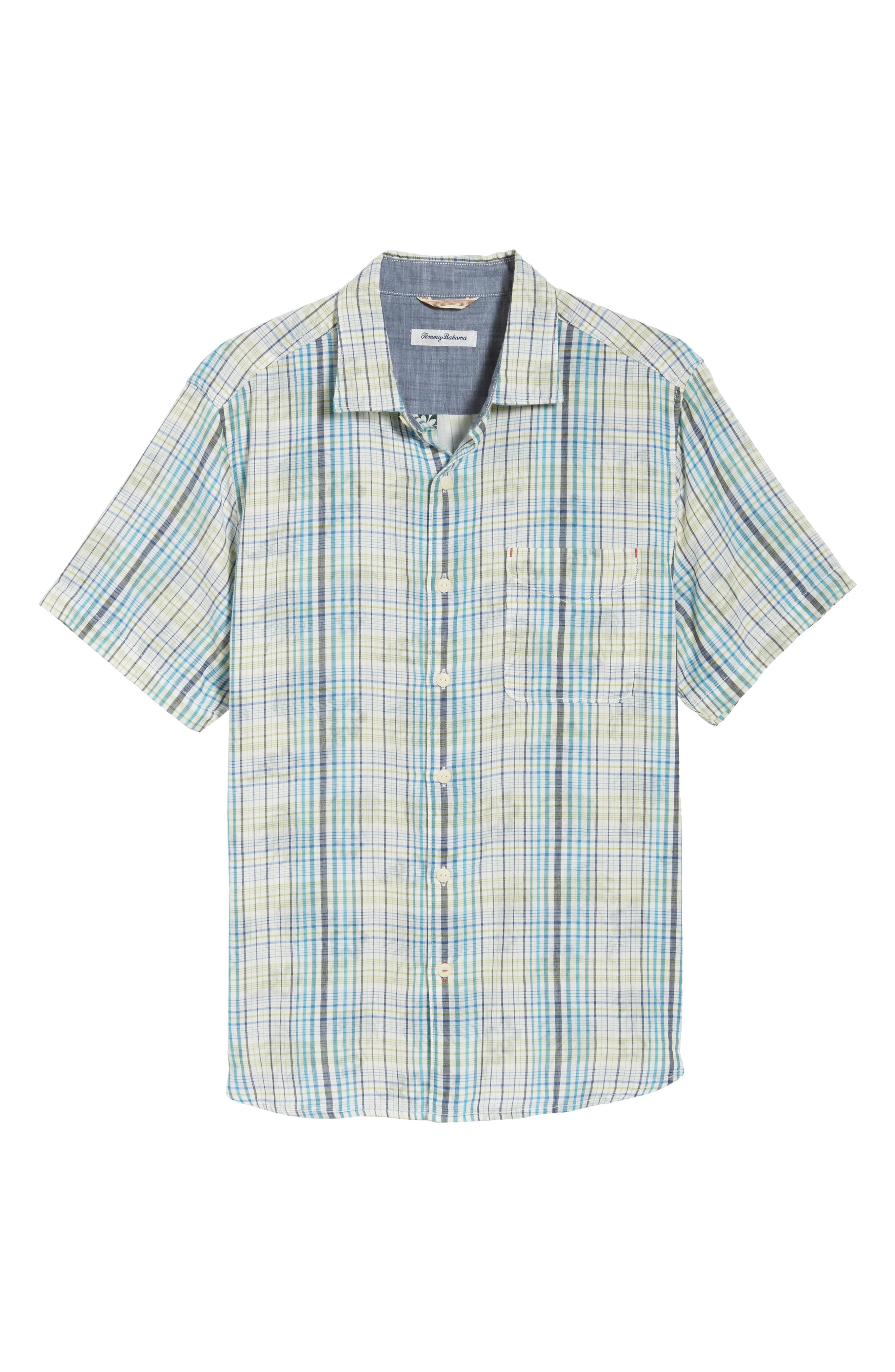 Hideaway Palms Camp Shirt,                             Alternate thumbnail 6, color,                             400