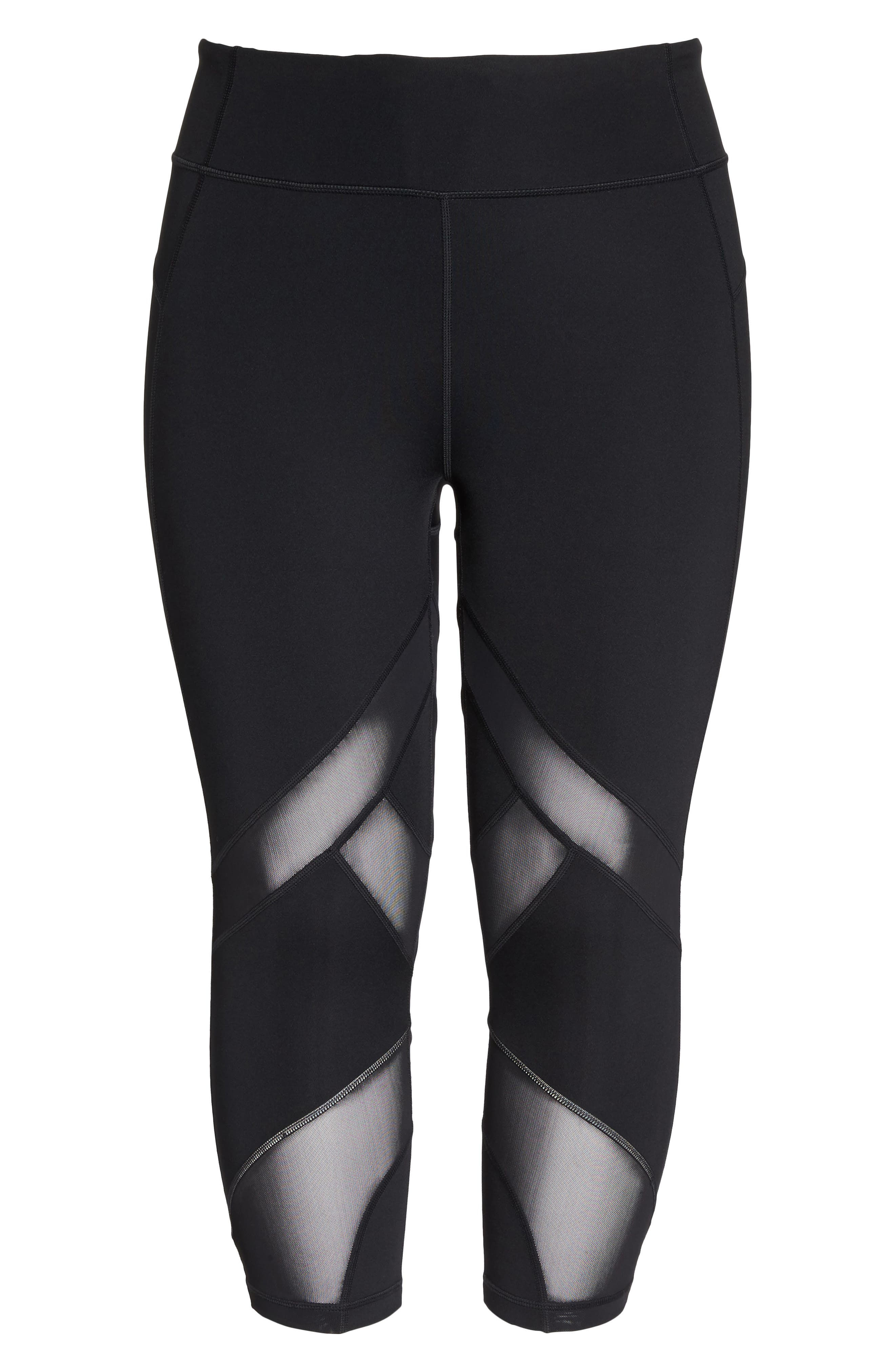 Swift II Crop Leggings,                             Alternate thumbnail 6, color,                             BLACK