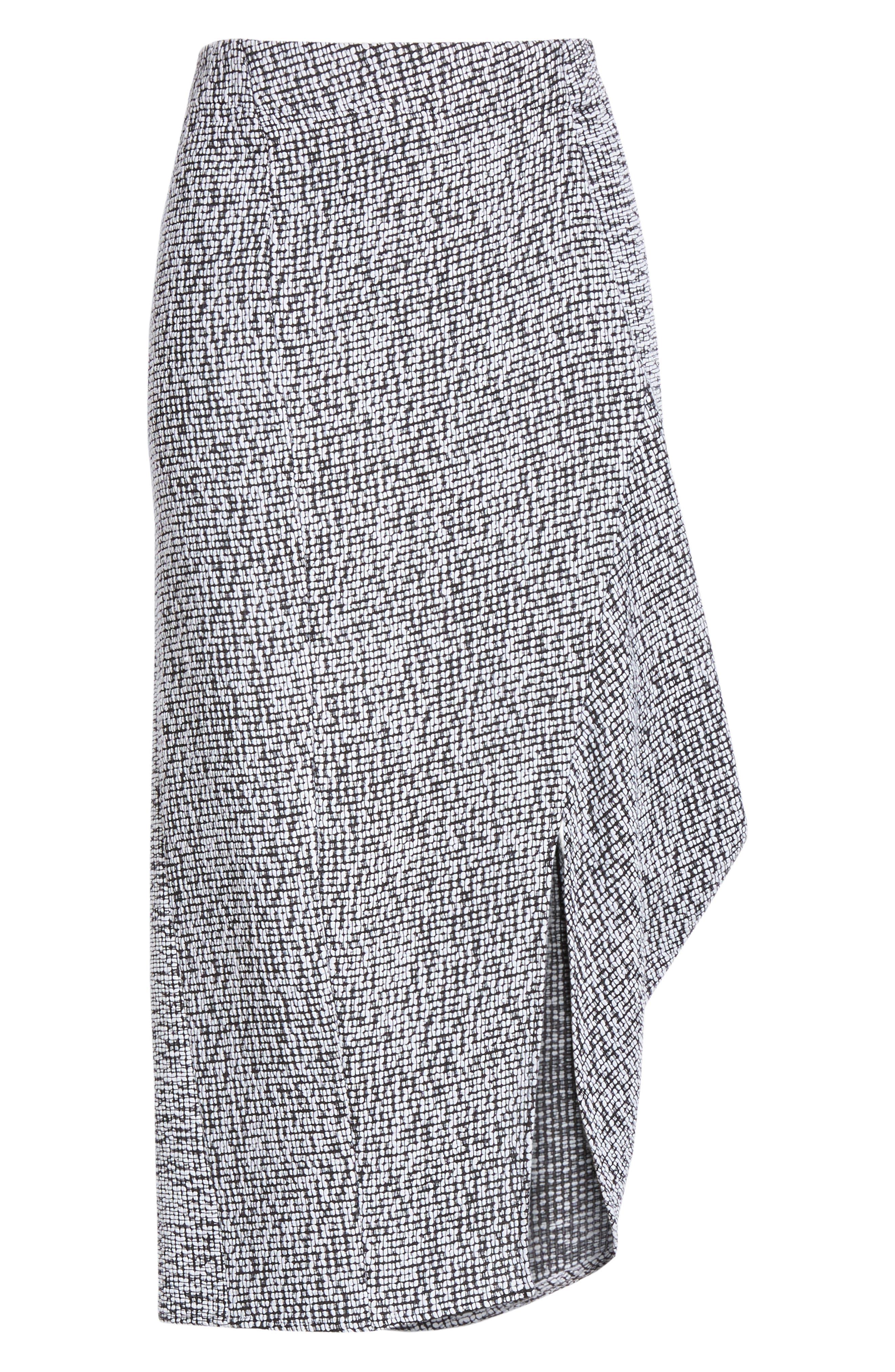 Mio Skirt,                             Alternate thumbnail 6, color,                             WHITE/ BLACK