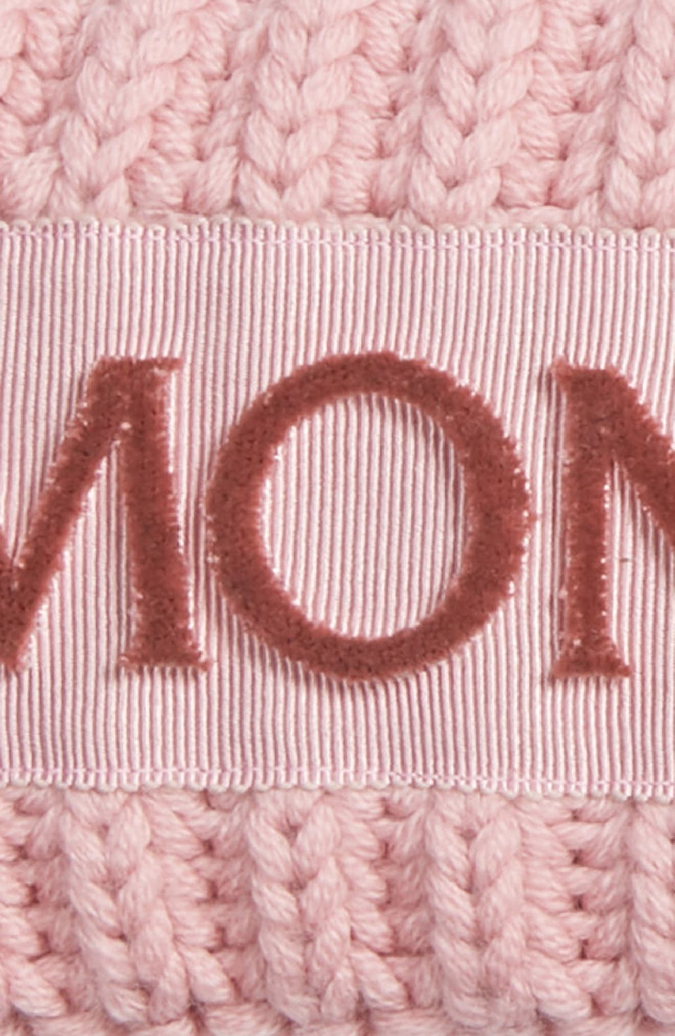MONCLER,                             Rib Knit Headband,                             Alternate thumbnail 2, color,                             BLUSH