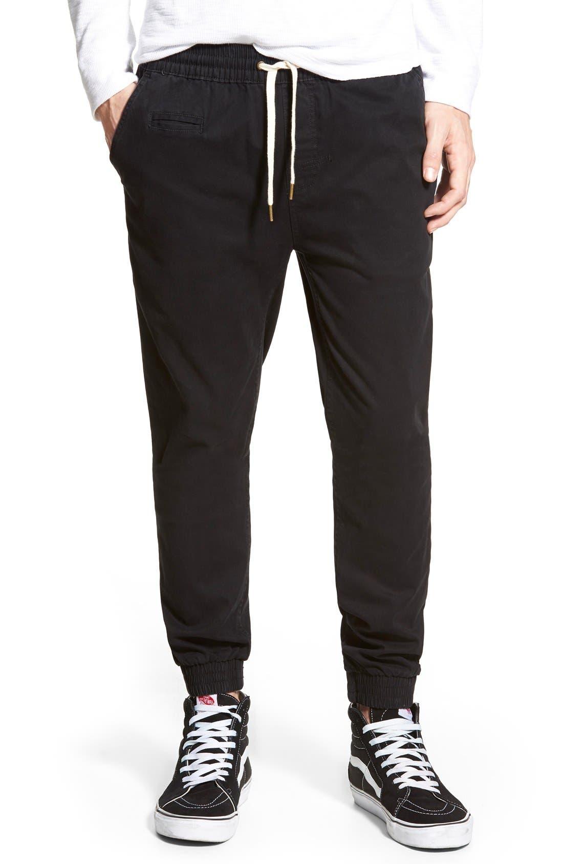 'Denny' Woven Jogger Pants,                         Main,                         color, 001