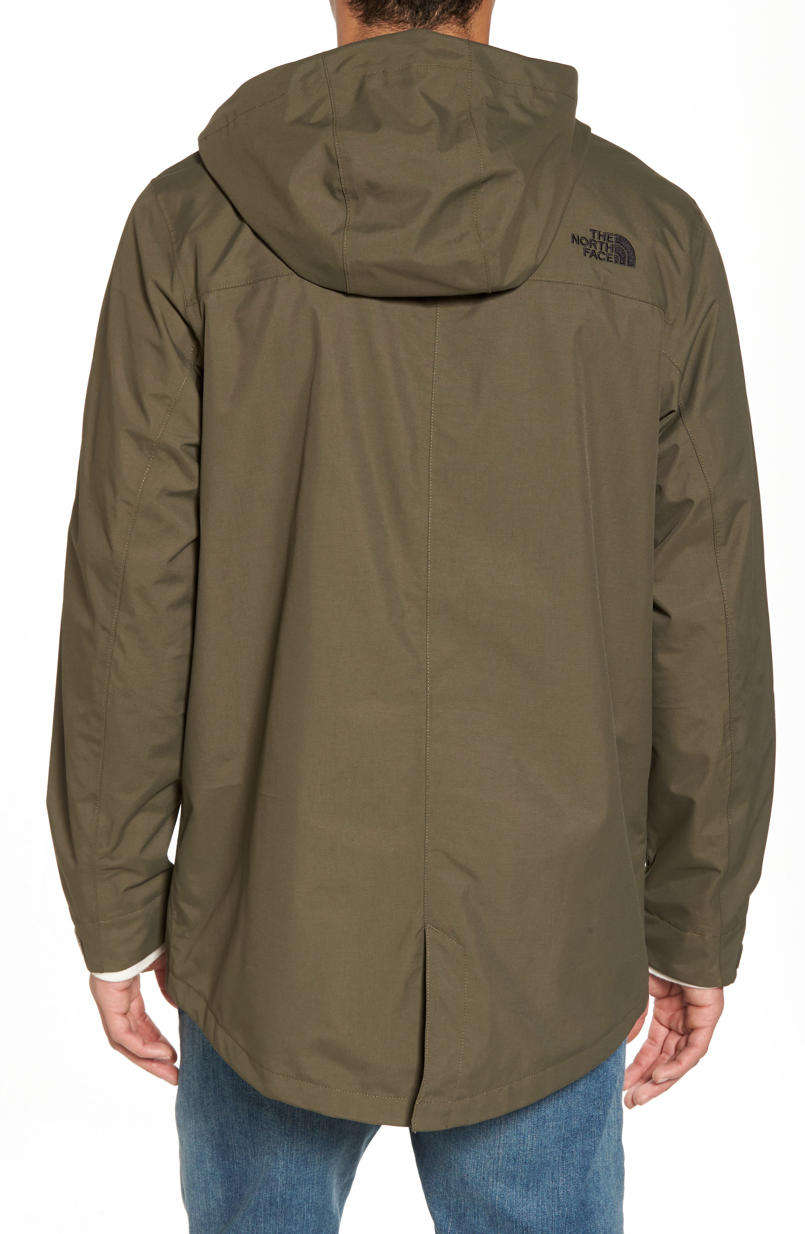 El Misti Trench II Hooded Jacket,                             Alternate thumbnail 2, color,                             NEW TAUPE GREEN