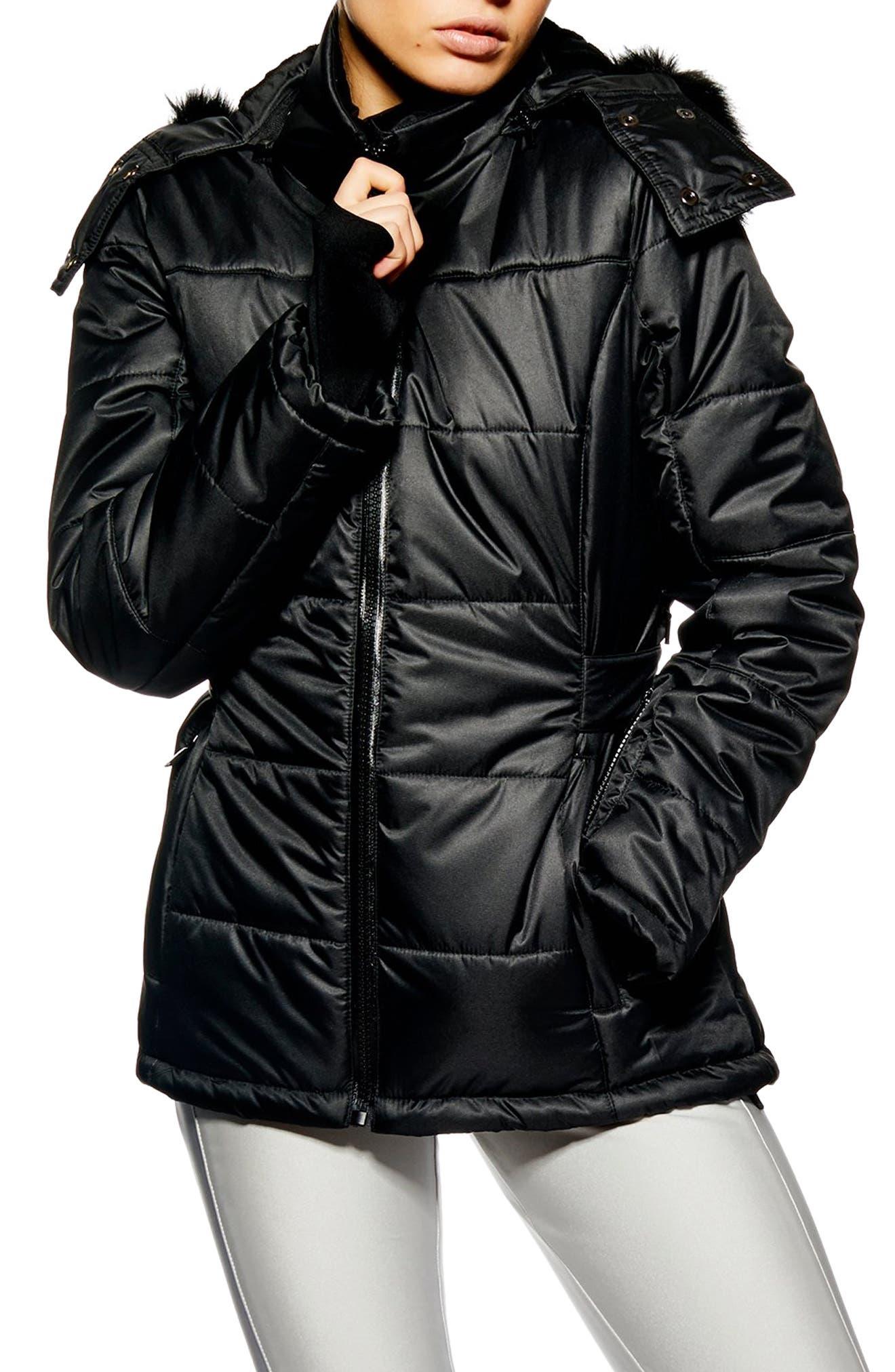 Sno Baby Ski Jacket,                             Main thumbnail 1, color,                             BLACK
