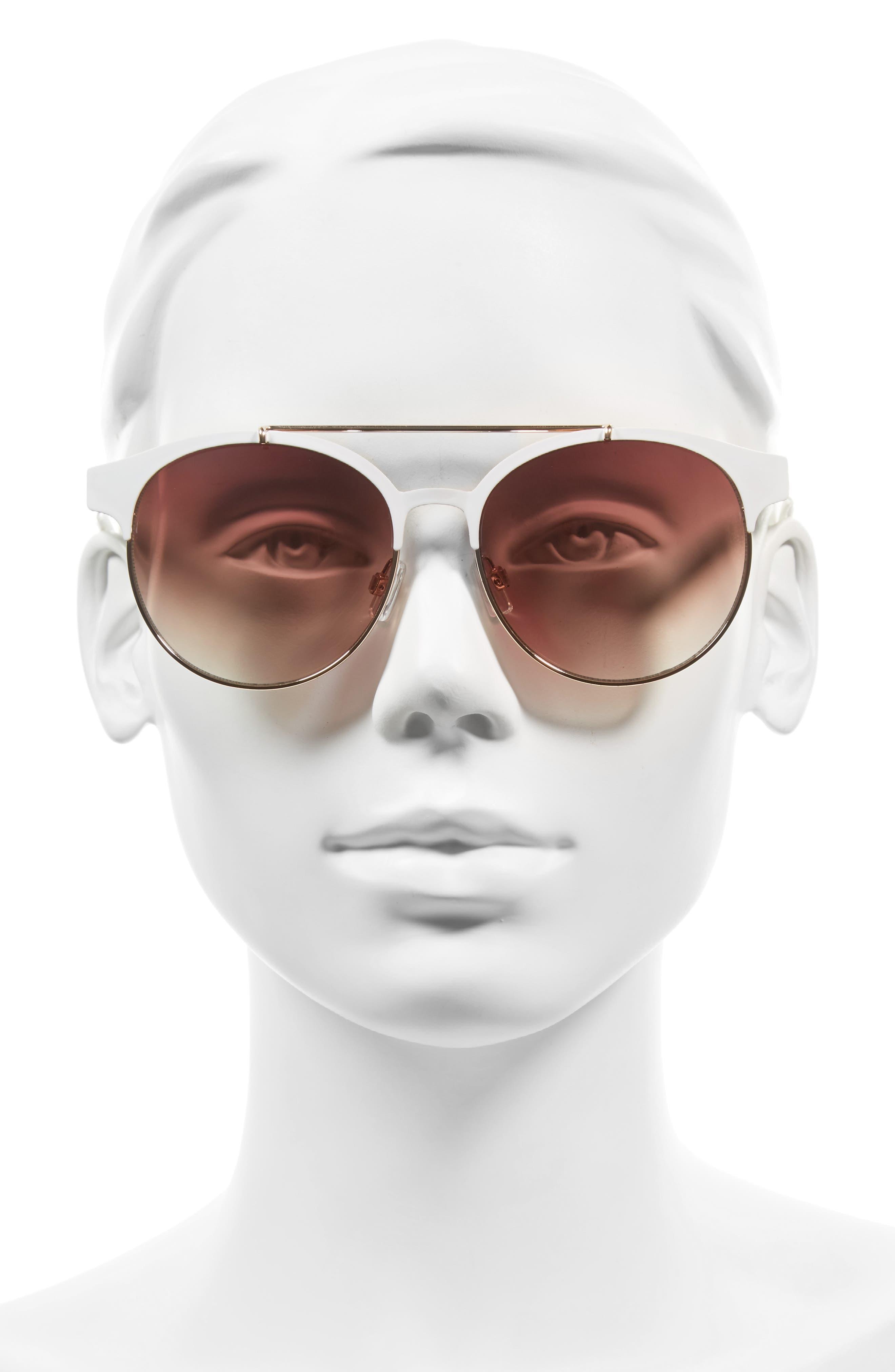 55mm Round Sunglasses,                             Alternate thumbnail 5, color,