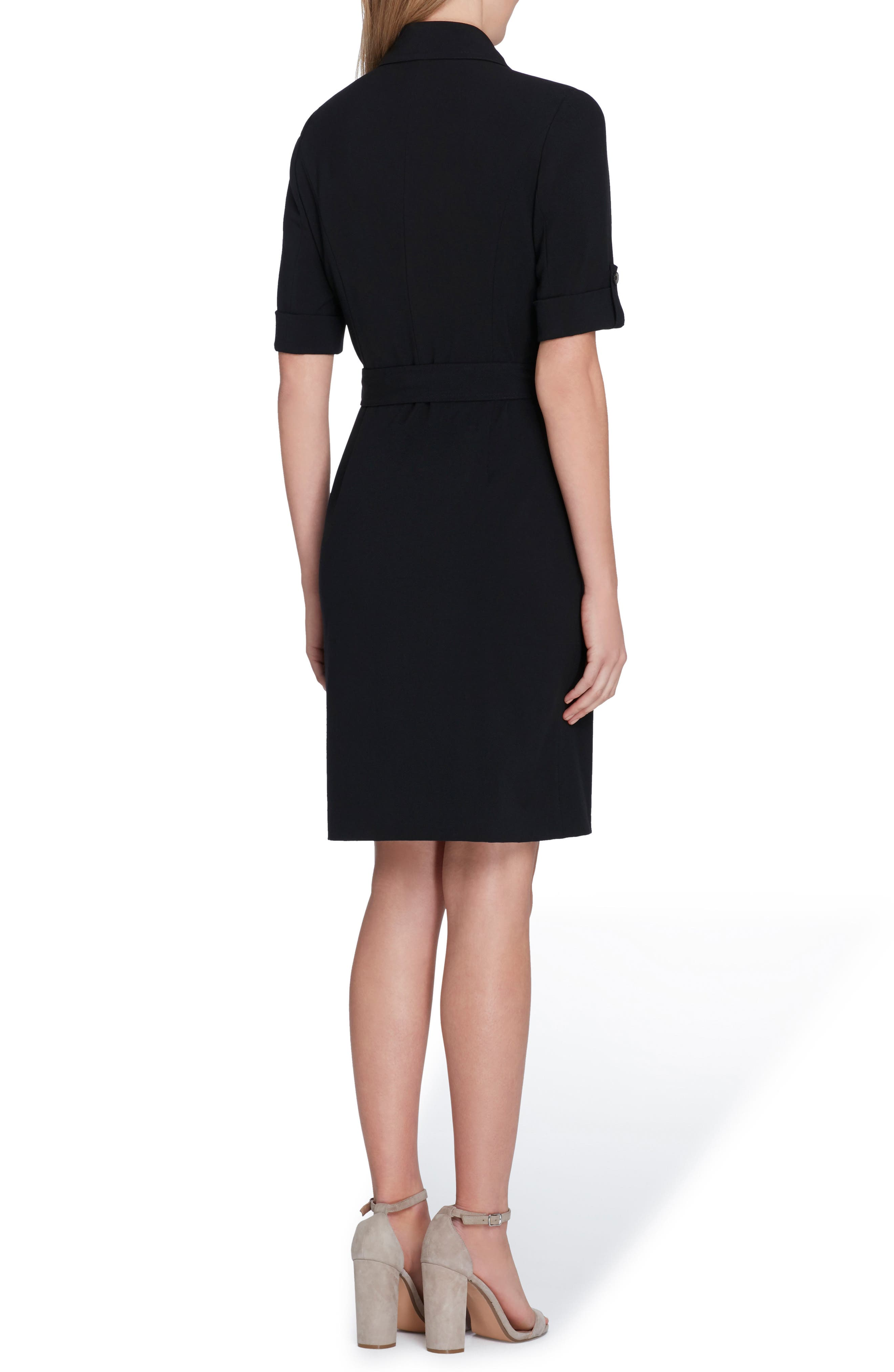 Collared Sheath Dress,                             Alternate thumbnail 2, color,                             001