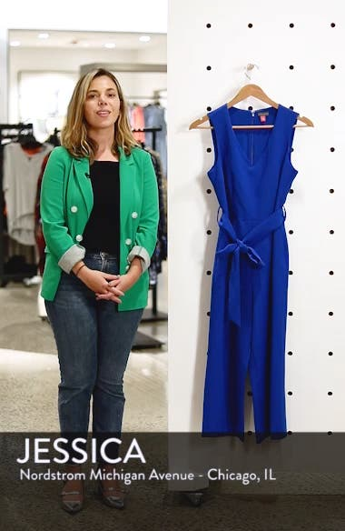 Sleeveless Tie Waist Jumpsuit, sales video thumbnail